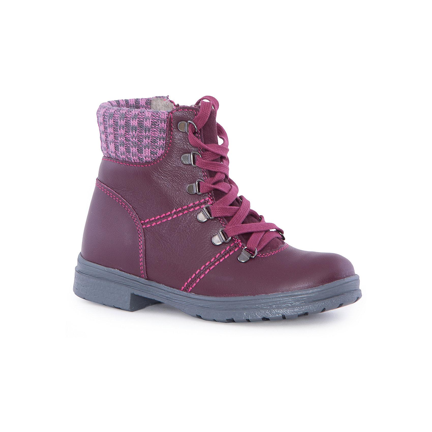 Ботинки для девочки КотофейБотинки для девочки Котофей.<br><br>Характеристики:<br><br>- Внешний материал: натуральная кожа<br>- Внутренний материал: байка<br>- Стелька: байка<br>- Подошва: ТЭП<br>- Тип застежки: молния, шнуровка<br>- Вид крепления обуви: клеевой<br>- Температурный режим до -10С<br>- Цвет: бордовый<br>- Сезон: весна, осень<br>- Пол: для девочек<br><br>Стильные ботинки для девочки торговой марки Котофей - идеальная обувь для межсезонья. Верх – дышащая натуральная кожа с гидрофобными свойствами. Подкладка – утеплённая, из полушерстяной байки. Мягкий трикотажный манжет создаёт комфорт при ходьбе и предотвращает натирание ножки ребенка. Подошва с каблучком выполнена из термоэластопласта – легкого, прочного материала, обладающего отличным амортизирующим эффектом и не теряющего своих свойств при понижении температур. Застежки – комбинированные: имеются как шнурки, обеспечивающие идеальную фиксацию обуви на стопе, так и «молния» для более быстрого и лёгкого обувания и снимания обуви. Дизайн ботинок соответствует последним европейским тенденциям и придаёт этой модели эффектный внешний вид. Детская обувь «Котофей» качественна, красива, добротна, комфортна и долговечна. Она производится на Егорьевской обувной фабрике. Жесткий контроль производства и постоянное совершенствование технологий при многолетнем опыте позволяют считать компанию одним из лидеров среди отечественных производителей детской обуви.<br><br>Ботинки для девочки Котофей можно купить в нашем интернет-магазине.<br><br>Ширина мм: 262<br>Глубина мм: 176<br>Высота мм: 97<br>Вес г: 427<br>Цвет: бордовый<br>Возраст от месяцев: 96<br>Возраст до месяцев: 108<br>Пол: Женский<br>Возраст: Детский<br>Размер: 32,35,30,31,33,34<br>SKU: 5023970