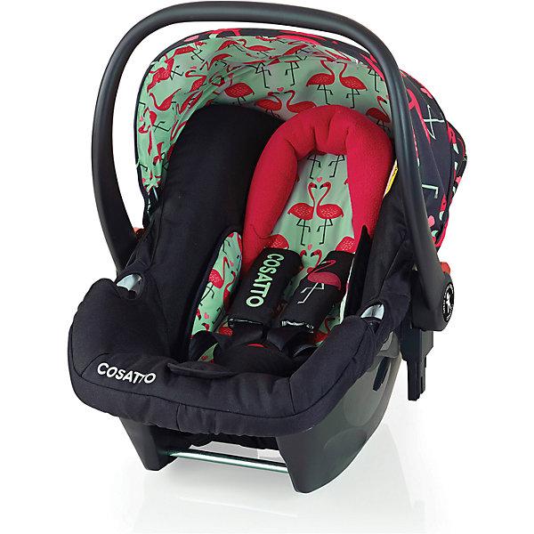 Автокресло Cosatto Hold 0-13 кг, Flamingo FlingГруппа 0+  (до 13 кг)<br>Характеристики автокресла Hold Cosatto:<br><br>• группа 0+;<br>• вес ребенка: до 13 кг;<br>• возраст ребенка: от рождения до 12 месяцев;<br>• способ установки: против хода движения автомобиля;<br>• способ крепления: штатными ремнями безопасности автомобиля;<br>• есть возможность установить автокресло на базу с системой крепления Isofix - база приобретается отдельно;<br>• 5-ти точечные ремни безопасности с мягкими накладками;<br>• регулируемый защитный капор;<br>• анатомический вкладыш для новорожденного;<br>• в комплекте с автокреслом идет дождевик;<br>• пластиковая ручка, автолюлька используется как переноска, положение ручки меняется;<br>• автокресло можно использовать как кресло-качалку;<br>• чтобы зафиксировать кресло, необходимо изменить положение ручки и создать упор в пол;<br>• съемные чехлы, стирка при температуре 30 градусов;<br>• материал: пластик, полиэстер;<br>• стандарт безопасности: ЕСЕ R44/03.<br><br>Размер автокресла, ДхШхВ: 70х44х60 см<br>Вес автокресла: 4,2 кг<br><br>Автокресло Hold Cosatto устанавливается как против хода движения автомобиля на заднем сиденье. Глубокая чаша просторная, малышу удобно находится в кресле даже в теплом комбинезоне. Анатомический вкладыш с подголовником снимается. Автокресло соответствует европейским стандартам безопасности. Авктокресло можно установить на раму коляски Cosatto. Адаптеры для установки автокресла на шасси коляски входят в комплект.<br><br>Автокресло 0-13 кг., HOLD, COSATTO можно купить в нашем интернет-магазине.<br><br>Ширина мм: 740<br>Глубина мм: 440<br>Высота мм: 380<br>Вес г: 6000<br>Возраст от месяцев: 0<br>Возраст до месяцев: 12<br>Пол: Унисекс<br>Возраст: Детский<br>SKU: 5025704