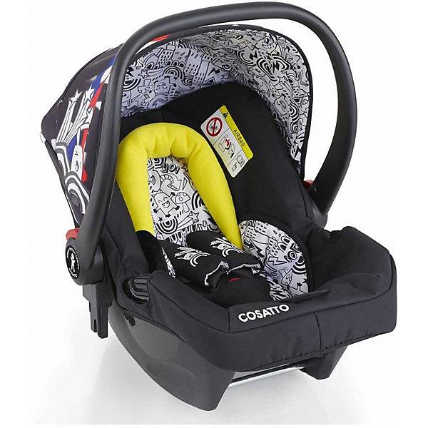 Автокресло Cosatto Hold 0-13 кг, Old SkoolГруппа 0+  (до 13 кг)<br>Характеристики автокресла Hold Cosatto:<br><br>• группа 0+;<br>• вес ребенка: до 13 кг;<br>• возраст ребенка: от рождения до 12 месяцев;<br>• способ установки: против хода движения автомобиля;<br>• способ крепления: штатными ремнями безопасности автомобиля;<br>• есть возможность установить автокресло на базу с системой крепления Isofix - база приобретается отдельно;<br>• 5-ти точечные ремни безопасности с мягкими накладками;<br>• регулируемый защитный капор;<br>• анатомический вкладыш для новорожденного;<br>• в комплекте с автокреслом идет дождевик;<br>• пластиковая ручка, автолюлька используется как переноска, положение ручки меняется;<br>• автокресло можно использовать как кресло-качалку;<br>• чтобы зафиксировать кресло, необходимо изменить положение ручки и создать упор в пол;<br>• съемные чехлы, стирка при температуре 30 градусов;<br>• материал: пластик, полиэстер;<br>• стандарт безопасности: ЕСЕ R44/03.<br><br>Размер автокресла, ДхШхВ: 70х44х60 см<br>Вес автокресла: 4,2 кг<br><br>Автокресло Hold Cosatto устанавливается как против хода движения автомобиля на заднем сиденье. Глубокая чаша просторная, малышу удобно находится в кресле даже в теплом комбинезоне. Анатомический вкладыш с подголовником снимается. Автокресло соответствует европейским стандартам безопасности. Авктокресло можно установить на раму коляски Cosatto. Адаптеры для установки автокресла на шасси коляски входят в комплект.<br><br>Автокресло 0-13 кг., HOLD, COSATTO можно купить в нашем интернет-магазине.<br><br>Ширина мм: 740<br>Глубина мм: 440<br>Высота мм: 380<br>Вес г: 6000<br>Возраст от месяцев: 0<br>Возраст до месяцев: 12<br>Пол: Унисекс<br>Возраст: Детский<br>SKU: 5025705