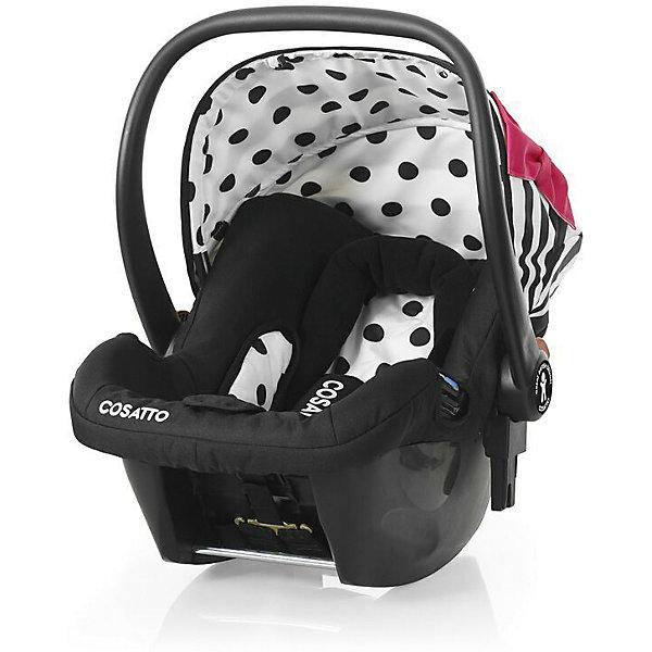 Автокресло Cosatto Hold 0-13 кг, Go Lightly 2Группа 0+  (до 13 кг)<br>Характеристики автокресла Hold Cosatto:<br><br>• группа 0+;<br>• вес ребенка: до 13 кг;<br>• возраст ребенка: от рождения до 12 месяцев;<br>• способ установки: против хода движения автомобиля;<br>• способ крепления: штатными ремнями безопасности автомобиля;<br>• есть возможность установить автокресло на базу с системой крепления Isofix - база приобретается отдельно;<br>• 5-ти точечные ремни безопасности с мягкими накладками;<br>• регулируемый защитный капор;<br>• анатомический вкладыш для новорожденного;<br>• в комплекте с автокреслом идет дождевик;<br>• пластиковая ручка, автолюлька используется как переноска, положение ручки меняется;<br>• автокресло можно использовать как кресло-качалку;<br>• чтобы зафиксировать кресло, необходимо изменить положение ручки и создать упор в пол;<br>• съемные чехлы, стирка при температуре 30 градусов;<br>• материал: пластик, полиэстер;<br>• стандарт безопасности: ЕСЕ R44/03.<br><br>Размер автокресла, ДхШхВ: 70х44х60 см<br>Вес автокресла: 4,2 кг<br><br>Автокресло Hold Cosatto устанавливается как против хода движения автомобиля на заднем сиденье. Глубокая чаша просторная, малышу удобно находится в кресле даже в теплом комбинезоне. Анатомический вкладыш с подголовником снимается. Автокресло соответствует европейским стандартам безопасности. Авктокресло можно установить на раму коляски Cosatto. Адаптеры для установки автокресла на шасси коляски входят в комплект.<br><br>Автокресло 0-13 кг., HOLD, COSATTO можно купить в нашем интернет-магазине.<br>Ширина мм: 740; Глубина мм: 440; Высота мм: 380; Вес г: 6000; Возраст от месяцев: 0; Возраст до месяцев: 12; Пол: Унисекс; Возраст: Детский; SKU: 5025706;