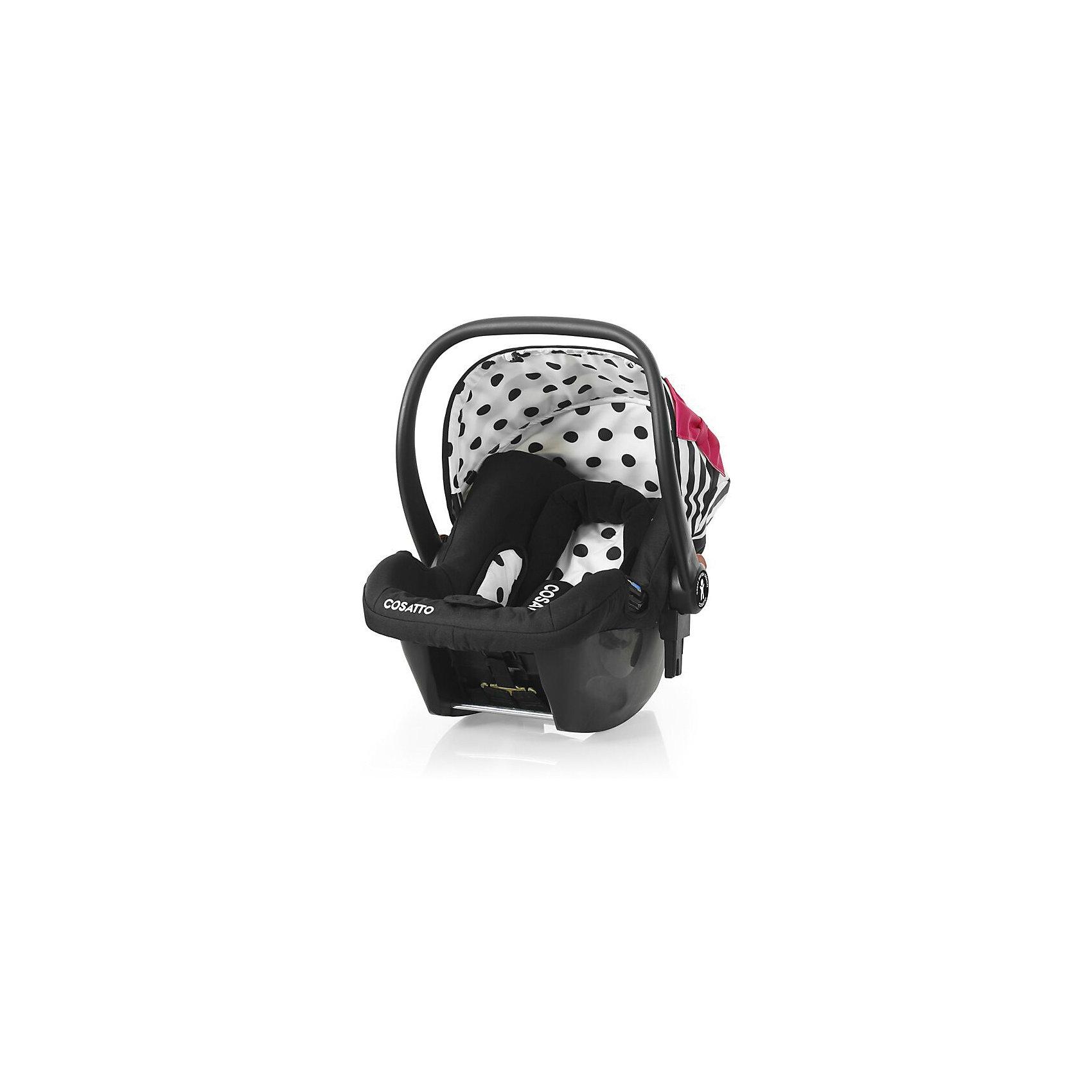Автокресло Cosatto Hold 0-13 кг, Go Lightly 2Группа 0+ (До 13 кг)<br>Характеристики автокресла Hold Cosatto:<br><br>• группа 0+;<br>• вес ребенка: до 13 кг;<br>• возраст ребенка: от рождения до 12 месяцев;<br>• способ установки: против хода движения автомобиля;<br>• способ крепления: штатными ремнями безопасности автомобиля;<br>• есть возможность установить автокресло на базу с системой крепления Isofix - база приобретается отдельно;<br>• 5-ти точечные ремни безопасности с мягкими накладками;<br>• регулируемый защитный капор;<br>• анатомический вкладыш для новорожденного;<br>• в комплекте с автокреслом идет дождевик;<br>• пластиковая ручка, автолюлька используется как переноска, положение ручки меняется;<br>• автокресло можно использовать как кресло-качалку;<br>• чтобы зафиксировать кресло, необходимо изменить положение ручки и создать упор в пол;<br>• съемные чехлы, стирка при температуре 30 градусов;<br>• материал: пластик, полиэстер;<br>• стандарт безопасности: ЕСЕ R44/03.<br><br>Размер автокресла, ДхШхВ: 70х44х60 см<br>Вес автокресла: 4,2 кг<br><br>Автокресло Hold Cosatto устанавливается как против хода движения автомобиля на заднем сиденье. Глубокая чаша просторная, малышу удобно находится в кресле даже в теплом комбинезоне. Анатомический вкладыш с подголовником снимается. Автокресло соответствует европейским стандартам безопасности. Авктокресло можно установить на раму коляски Cosatto. Адаптеры для установки автокресла на шасси коляски входят в комплект.<br><br>Автокресло 0-13 кг., HOLD, COSATTO можно купить в нашем интернет-магазине.<br><br>Ширина мм: 740<br>Глубина мм: 440<br>Высота мм: 380<br>Вес г: 6000<br>Возраст от месяцев: 0<br>Возраст до месяцев: 12<br>Пол: Унисекс<br>Возраст: Детский<br>SKU: 5025706