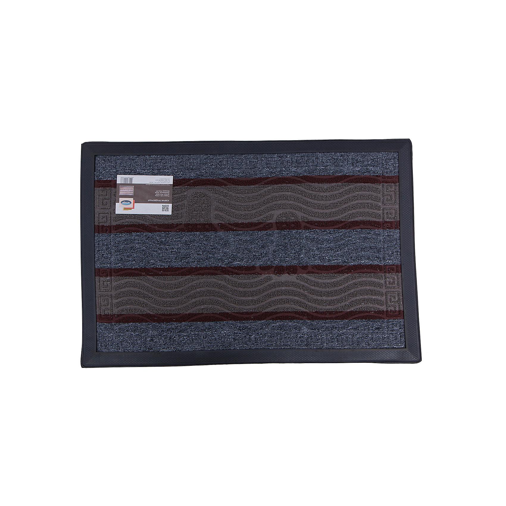 Коврик резиновый PVC 40х60, AmigoКовры<br>Коврик резиновый PVC 40х60, Amigo (Амиго) - это отличный выбор для тех, кто хочет сделать свою жизнь комфортной и эстетичной.<br>Придверной резиновый коврик с ворсом хорошо задерживает грязь и не допускает попадания песка на обуви в квартиру. Он имеет влаговпитывающее покрытие. Коврик выглядит стильно и оригинально, он долговечен, со временем не деформируется.<br><br>Дополнительная информация:<br><br>- Размер: 40х60 см.<br>- Материал: ПВХ<br><br>Коврик резиновый PVC 40х60, Amigo можно купить в нашем интернет-магазине.<br><br>Ширина мм: 600<br>Глубина мм: 400<br>Высота мм: 30<br>Вес г: 1100<br>Возраст от месяцев: 18<br>Возраст до месяцев: 1188<br>Пол: Унисекс<br>Возраст: Детский<br>SKU: 5025731