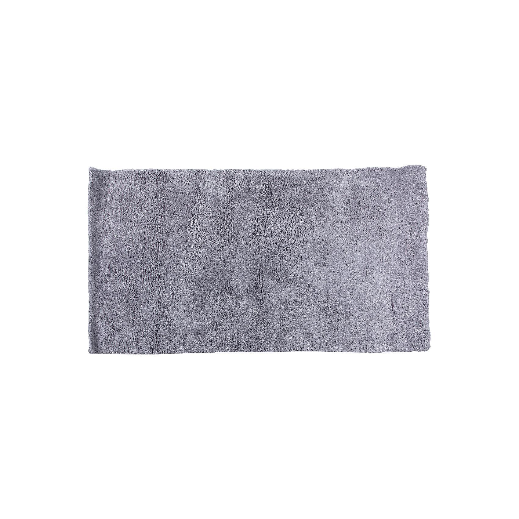 Ковёр Microfiber, лавсан, Amigo, серебрянно-серый, 0,8х1,5м.