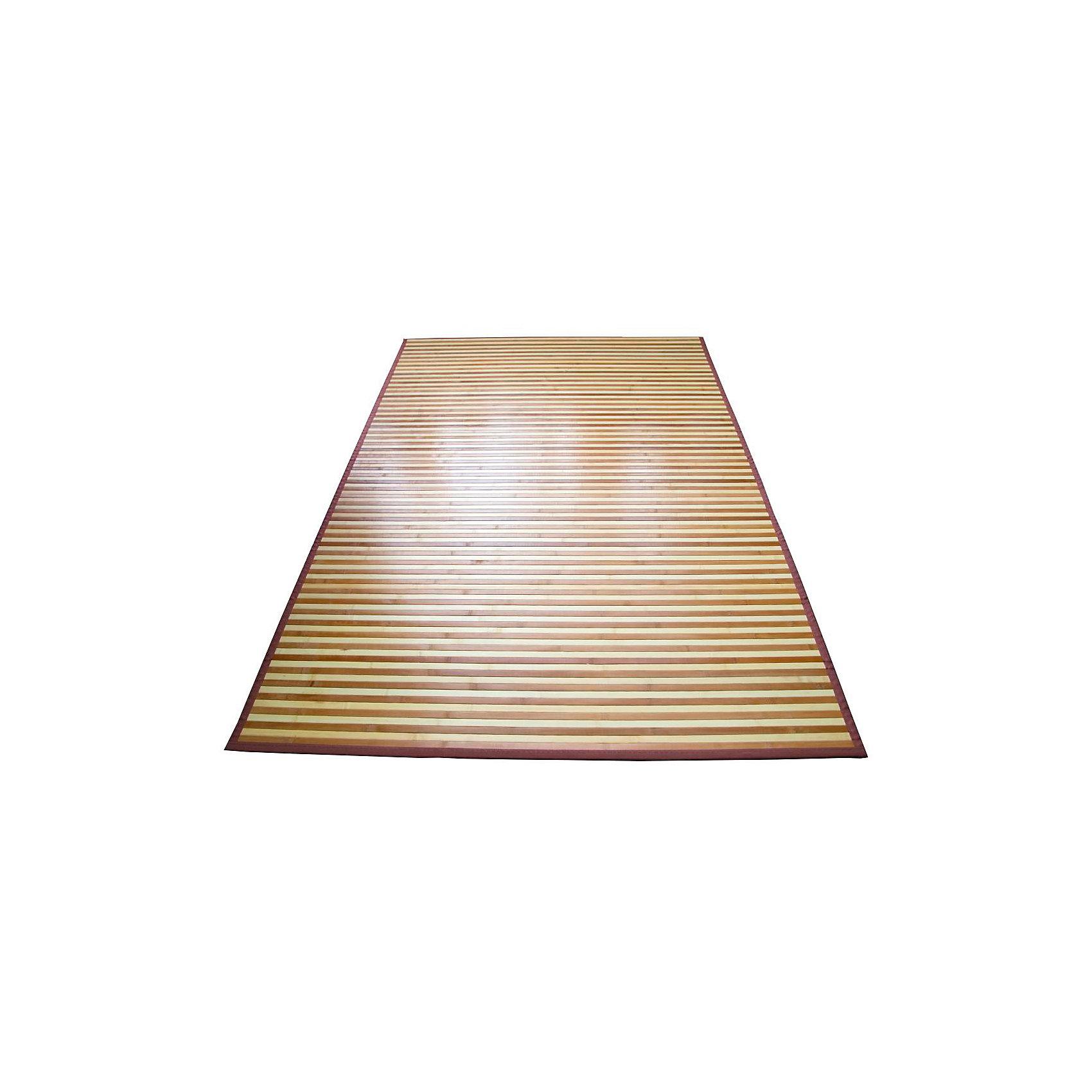 Циновка широкоплашечная 1,2х1,8 бамбук, Amigo, mix