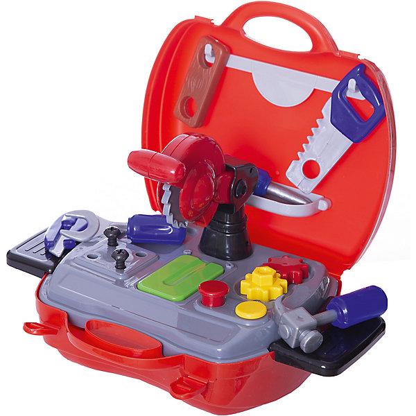 Набор инструментов Чудо-чемоданчик, 19 предм., ABtoysНаборы инструментов<br>Набор инструментов Чудо-чемоданчик, 19 предм., ABtoys - игрушки , которые наверняка порадают каждого мальчика. <br>С такими игрушками мальчишки учатся правильно держать молоток, отвертку, стамеску и другие инструменты, ведь потом эти навыки им обязательно пригодятся во взрослой жизни . <br>Теперь малыш сможет помогать папе чинить или собирать что-нибудь со своим набором инструментов. <br>Каждый мальчишка будет рад такому подарку, а еще его удобно брать с собой на прогулку или в дорогу.<br><br>В наборе 19 предметов: <br>- чемоданчик разборный<br>- панель для хранения деталей<br>- отвертка<br>- молоток<br>- пила циркулярная<br>- нож<br>- гаечный ключ<br>- линейка <br>- брусок<br><br>Ширина мм: 200<br>Глубина мм: 240<br>Высота мм: 100<br>Вес г: 570<br>Возраст от месяцев: 36<br>Возраст до месяцев: 120<br>Пол: Мужской<br>Возраст: Детский<br>SKU: 5026129