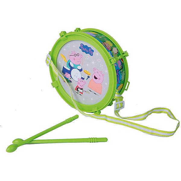 Барабан Пеппы со световыми эффектами,Свинка ПеппаСвинка Пеппа<br>Яркий барабан со световыми эффектами прям как из мультфильма Свинка Пеппа!<br>Теперь Ваш малыш сможет устраивать импровизированные концерты дома в компании друзей.<br>Набор инструментов поможет ребенку проявить свои музыкальные таланты, развить слух и чувство ритма, а также мелкую моторику рук.<br><br>Дополнительная информация:<br><br>- Возраст: от 3 лет.<br>- Материал: пластик, металл.<br>- В наборе: бубен, палочки (2 шт.), металлофон, губная гармошка, дудка.<br>- Размер упаковки: 20.5х19.7х7 см.<br>- Вес в упаковке: 252 г.<br><br>Купить барабан Пеппы со световыми эффектами Свинка Пеппа, можно в нашем магазине.<br><br>Ширина мм: 205<br>Глубина мм: 197<br>Высота мм: 70<br>Вес г: 252<br>Возраст от месяцев: 36<br>Возраст до месяцев: 2147483647<br>Пол: Унисекс<br>Возраст: Детский<br>SKU: 5026857