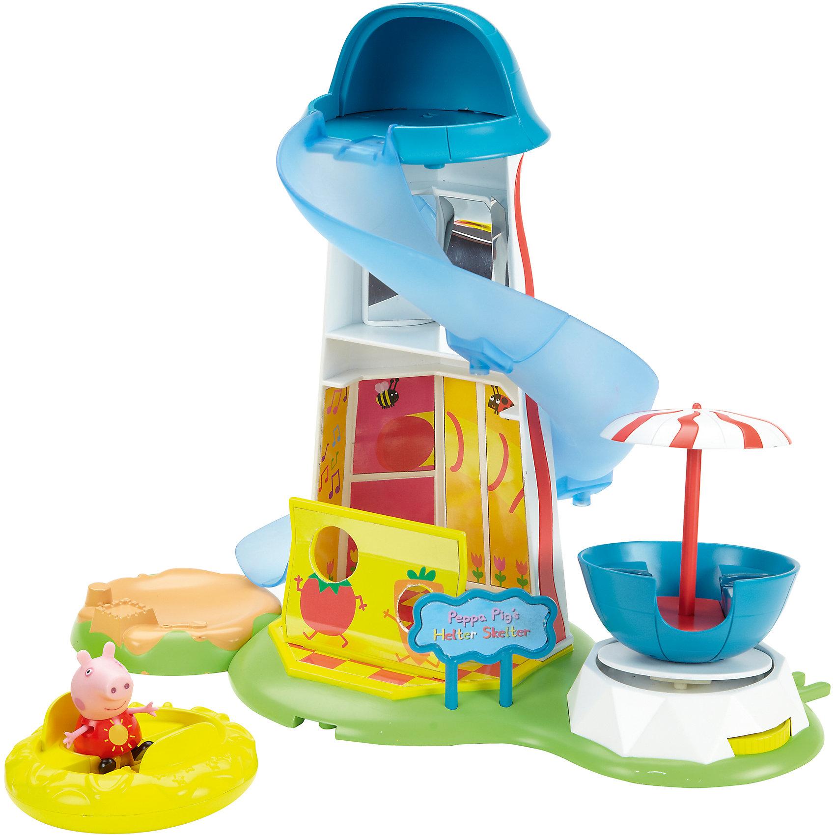 Игровой набор Водная горка. Луна Парк, Свинка ПеппаСвинка Пеппа<br>Это яркий игровой набор в комплекте со свинкой Пеппой, горкой и каруселью. Карусель рассчитана на двух пассажиров, так что ребенок сможет посадить на второе место любую из своих любимых игрушек.<br><br>Дополнительная информация:<br><br>- Возраст: от 3 лет.<br>- Материал: пластик.<br>- В наборе: игровая площадка, двухместная вращающаяся карусель, свинка Пеппа.<br>- Размер игровой площадки: 29x33x20 см.<br>- Диаметр карусели: 10 см.<br>- Размер упаковки: 35х22х35.5 см.<br>- Вес в упаковке: 980 г.<br><br>Купить игровой набор Водная горка. Луна Парк, можно в нашем магазине.<br><br>Ширина мм: 350<br>Глубина мм: 220<br>Высота мм: 355<br>Вес г: 980<br>Возраст от месяцев: 36<br>Возраст до месяцев: 2147483647<br>Пол: Унисекс<br>Возраст: Детский<br>SKU: 5026858