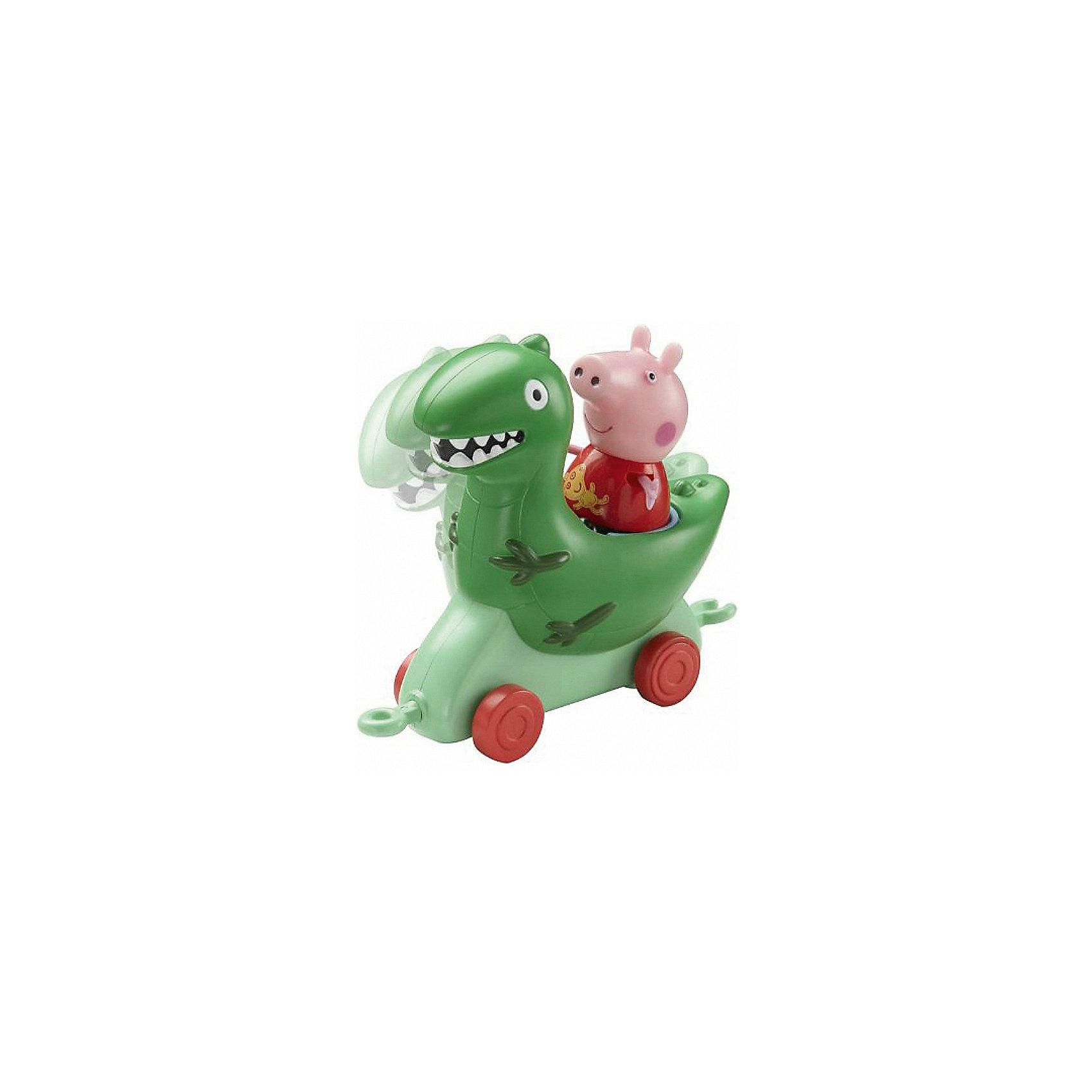 Игровой набор Каталка Динозавр, Свинка ПеппаЯркая каталка Динозавр сразу понравится Вашему ребенку! <br>Привяжите веревочку к специальному держателю и посадите фигурку Пеппы на сидение, чтобы Ваш ребенок мог увлеченно возить каталку, развивая координацию движений.<br><br>Дополнительная информация:<br><br>- Возраст: от 3 лет.<br>- Материал: пластик.<br>- Размер упаковки: 14.3х10х14.3 см.<br>- Вес в упаковке: 130 г.<br><br>Купить игровой набор Каталка Динозавр, Свинка Пеппа, можно в нашем магазине.<br><br>Ширина мм: 143<br>Глубина мм: 100<br>Высота мм: 143<br>Вес г: 130<br>Возраст от месяцев: 36<br>Возраст до месяцев: 2147483647<br>Пол: Унисекс<br>Возраст: Детский<br>SKU: 5026860