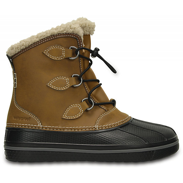 Сноубутсы Kids' AllCast II Boot для мальчика CROCSСноубутсы<br>Характеристики товара:<br><br>• цвет: коричневый<br>• материал: верх - текстиль, низ -100% полимер Croslite™<br>• материал подкладки: искусственный мех<br>• непромокаемая носочная часть<br>• температурный режим: от -15° до +10° С<br>• легко очищаются<br>• антискользящая подошва<br>• шнуровка<br>• толстая устойчивая подошва<br>• страна бренда: США<br>• страна изготовитель: Китай<br><br>Сапоги могут быть и стильными, и теплыми! Для детской обуви крайне важно, чтобы она была удобной. Такие сапоги обеспечивают детям необходимый комфорт, а теплая подкладка создает особый микроклимат. Сапоги легко надеваются и снимаются, отлично сидят на ноге. Материал, из которого они сделаны, не дает размножаться бактериям, поэтому такая обувь препятствует образованию неприятного запаха и появлению болезней стоп. Данная модель особенно понравится детям - ведь в них можно бегать по лужам!<br>Обувь от американского бренда Crocs в данный момент завоевала широкую популярность во всем мире, и это не удивительно - ведь она невероятно удобна. Её носят врачи, спортсмены, звёзды шоу-бизнеса, люди, которым много времени приходится бывать на ногах - они понимают, как важна комфортная обувь. Продукция Crocs - это качественные товары, созданные с применением новейших технологий. Обувь отличается стильным дизайном и продуманной конструкцией. Изделие производится из качественных и проверенных материалов, которые безопасны для детей.<br><br>Сапоги для мальчика от торговой марки Crocs можно купить в нашем интернет-магазине.<br>Ширина мм: 257; Глубина мм: 180; Высота мм: 130; Вес г: 420; Цвет: коричневый; Возраст от месяцев: 24; Возраст до месяцев: 36; Пол: Мужской; Возраст: Детский; Размер: 26,27,38/39,37/38,36/37,34/35,33/34,31/32,30,29,28; SKU: 5027365;