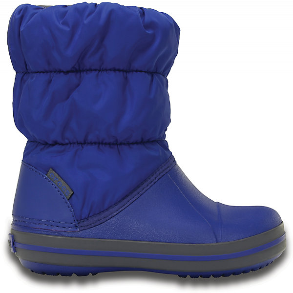 Сноубутсы Winter Puff для мальчика CROCSСноубутсы<br>Характеристики товара:<br><br>• цвет: синий<br>• материал: верх - текстиль, низ -100% полимер Croslite™<br>• материал подкладки: текстиль<br>• непромокаемая носочная часть<br>• температурный режим: от -15° до +10° С<br>• легко очищаются<br>• антискользящая подошва<br>• резинка наверху<br>• толстая устойчивая подошва<br>• страна бренда: США<br>• страна изготовитель: Китай<br><br>Сапоги могут быть и стильными, и теплыми! Для детской обуви крайне важно, чтобы она была удобной. Такие сапоги обеспечивают детям необходимый комфорт, а теплая подкладка создает особый микроклимат. Сапоги легко надеваются и снимаются, отлично сидят на ноге. Материал, из которого они сделаны, не дает размножаться бактериям, поэтому такая обувь препятствует образованию неприятного запаха и появлению болезней стоп. Данная модель особенно понравится детям - ведь в них можно бегать по лужам!<br>Обувь от американского бренда Crocs в данный момент завоевала широкую популярность во всем мире, и это не удивительно - ведь она невероятно удобна. Её носят врачи, спортсмены, звёзды шоу-бизнеса, люди, которым много времени приходится бывать на ногах - они понимают, как важна комфортная обувь. Продукция Crocs - это качественные товары, созданные с применением новейших технологий. Обувь отличается стильным дизайном и продуманной конструкцией. Изделие производится из качественных и проверенных материалов, которые безопасны для детей.<br><br>Сапоги для мальчика от торговой марки Crocs можно купить в нашем интернет-магазине.<br>Ширина мм: 257; Глубина мм: 180; Высота мм: 130; Вес г: 420; Цвет: синий; Возраст от месяцев: 36; Возраст до месяцев: 48; Пол: Мужской; Возраст: Детский; Размер: 28,27,34/35,33/34,31/32,26,25,24,23,30,29; SKU: 5027469;