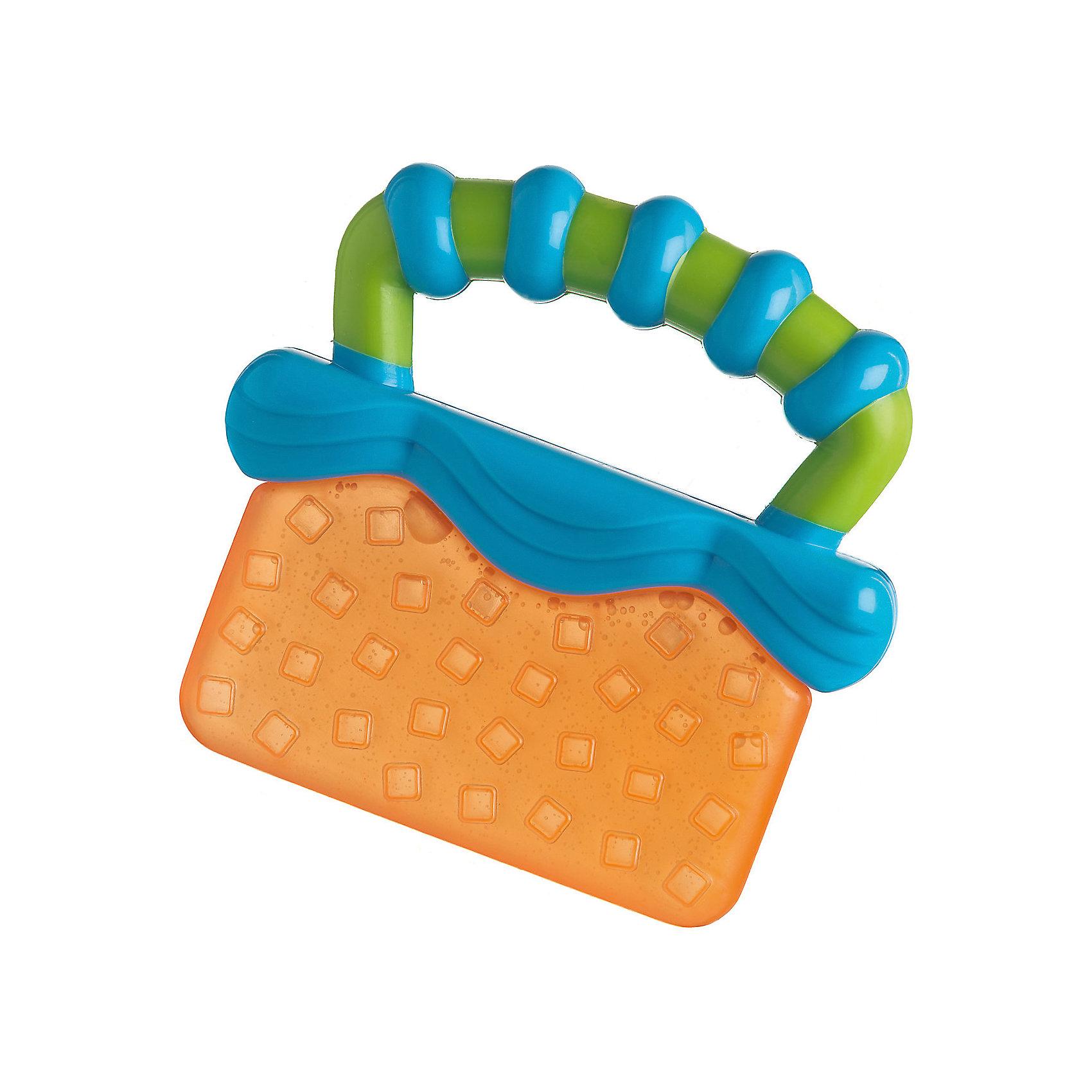 Playgro Игрушка-прорезыватель, Playgro, оранжево-синяя