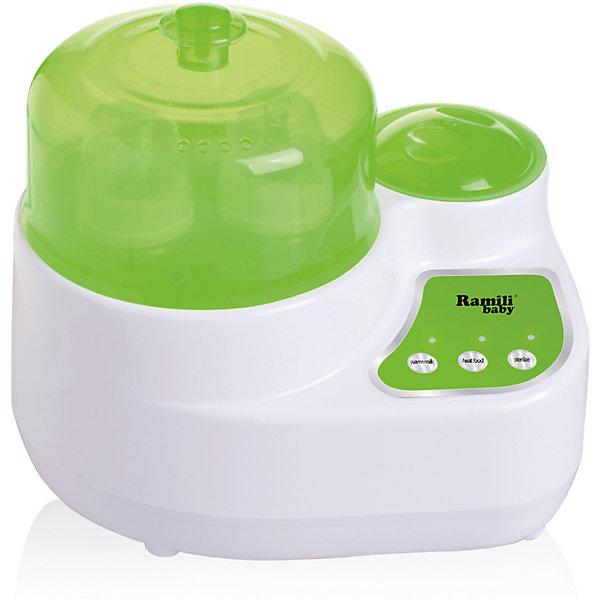Стерилизатор-подогреватель бутылочек и детского питания 3 в 1 BSS250, RamiliПодогреватели детского питания<br>Облегчить процесс подогрева детской смеси и баночного пюре для ребенка, а также сократить до минимума занятость мамочки в процессе стерилизации поможет стерилизатор-подогреватель 3в1. Подогретая молочная смесь остается теплой некоторое время, процесс стерилизации может запускаться одновременно. Мамин помощник на кухне, стерилизатор-подогреватель Рамили, изготовлен из безопасных материалов, не содержит бисфенол-А. <br><br>Подогреватель детского питания:<br><br>• отдельная кнопка включения;<br>• подходит для всех типов бутылочек и баночек с детским питанием;<br>• температура подогрева: 40оС;<br>• сохранение данной температуры в течение некоторого времени.<br><br>Разогрев еды:<br><br>• отдельная кнопка включения;<br>• наличие контейнера-чашки с крышкой;<br>• температура нагрева: 70 оС;<br>• сохранение данной температуры в течение некоторого времени.<br><br>Стерилизатор детских бутылочек для кормления:<br><br>• отдельная кнопка включения;<br>• подходит для всех типов бутылочек;<br>• подставка для бутылочек, сосок и аксессуаров;<br>• одновременная стерилизация 4-х бутылочек;<br>• время стерилизации – 9 минут.<br><br>Дополнительная информация:<br><br>Функция автоотключения.<br><br>Комплектация:<br><br>• стерилизатор-подогреватель BSS250;<br>• чашка с крышкой для детской еды;<br>• подставка для бутылочек;<br>• руководство по эксплуатации.<br><br>Стерилизатор-подогреватель бутылочек и детского питания 3 в 1 BSS250, Ramili можно купить в нашем интернет-магазине.<br>Ширина мм: 500; Глубина мм: 250; Высота мм: 250; Вес г: 2500; Возраст от месяцев: 0; Возраст до месяцев: 12; Пол: Унисекс; Возраст: Детский; SKU: 5028908;