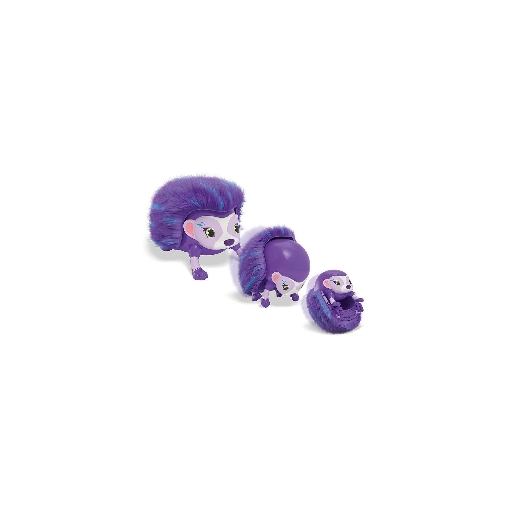 Spin Master Интерактивный Ёжик, фиолетовый, Zoomer spin master большой автомобиль спасателей погрузчик рокки щенячий патруль