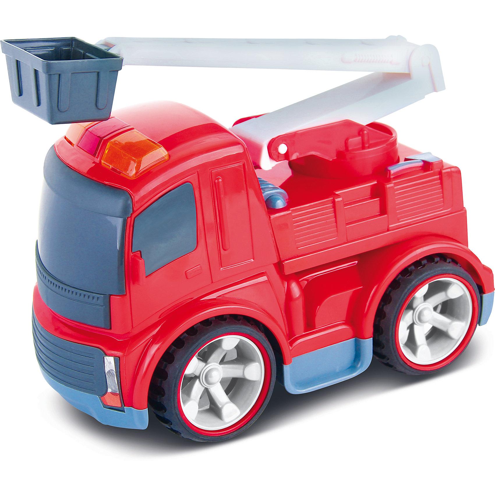 Машинка на радиоуправлении Пожарная, со звуковыми эффектамиРадиоуправляемый транспорт<br>Характеристики пожарной машинки Bluesea:<br><br>• звуковые эффекты: сирена, работающий двигатель;<br>• световые эффекты: проблесковые маячки;<br>• инфракрасное управление;<br>• наличие пульта управления;<br>• радиус действия пульта: 1 метр;<br>• направление движения: вперед, назад, влево, вправо;<br>• прорезиненные колеса с амортизаторами;<br>• материал: пластик;<br>• размер упаковки: 30х22х20 см;<br>• вес упаковки: 745 г<br><br>Пожарная машинка со свето-звуковыми эффектами оснащена подвижными элементами: пожарная стрела поднимается, имеется люлька для спасателей, чтобы оказать помощь пострадавшим и безопасно спустить их с верхних этажей. Во время движения слышен звук работающего двигателя, во время включения задней передачи раздается предупредительный сигнал. Управление машинкой производится с пульта управления. <br><br>Машинку на радиоуправлении Пожарная, со звуковыми эффектами можно купить в нашем интернет-магазине.<br><br>Ширина мм: 21<br>Глубина мм: 31<br>Высота мм: 16<br>Вес г: 175<br>Возраст от месяцев: 36<br>Возраст до месяцев: 2147483647<br>Пол: Унисекс<br>Возраст: Детский<br>SKU: 5030383