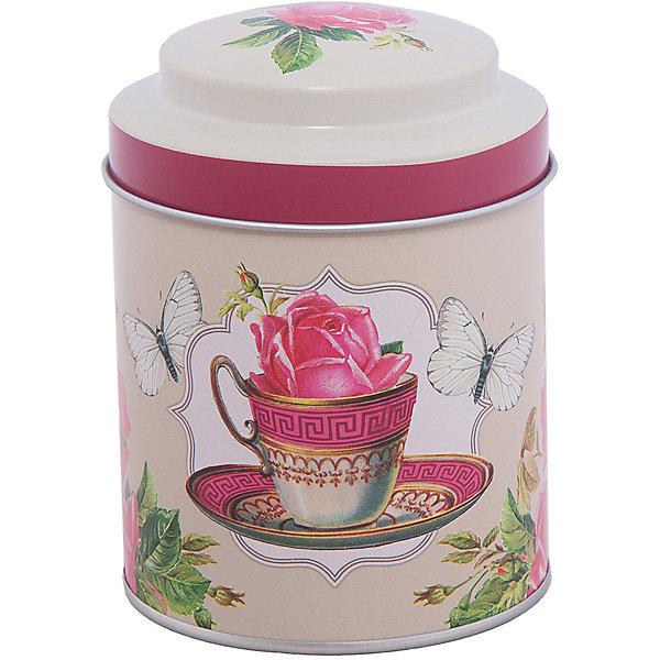 Емкость для сыпучих продуктов Чайная роза 680мл, Magic HomeКухонная утварь<br>Жестяная банка с крышкой предназначена для хранения сыпучих продуктов. Банка украшена рисунком «Чайная роза», создает «аппетитное» настроение на кухне. Вместительная емкость для специй, лекарственных трав, сахара или чая плотно закрывается крышкой, продукты сохраняют свежесть и аромат, не впитывают посторонние запахи. <br><br>Дополнительная информация:<br><br>Не предназначена для мытья в посудомоечной машине. <br><br>Объем: 680 мл<br><br>Высота банки Magic Home (без учета крышки): 10 см<br>Диаметр банки Magic Home (по верхнему краю): 9 см<br><br>Материал: окрашенный черный металл<br><br>Емкость для сыпучих продуктов Чайная роза 680мл, Magic Home можно купить в нашем интернет-магазине.<br>Ширина мм: 100; Глубина мм: 120; Высота мм: 100; Вес г: 92; Возраст от месяцев: 216; Возраст до месяцев: 1200; Пол: Унисекс; Возраст: Детский; SKU: 5030473;