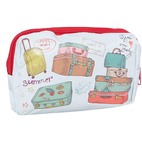 Набор в чехле для путешествий Чемоданы, Magic HomeДорожные сумки и чемоданы<br>Набор для путешествий Magic Home обеспечивает туриста набором аксессуаров, которые могут пригодиться в поездке. Набор состоит из 4-х предметов, упакован в косметичку на молнии. Косметичка декорирована фотопечатью «Чемоданы». <br><br>Дополнительная информация:<br><br>Размер чехла: <br>Материал чехла: 100% полиэстер<br><br>Комплектация набора для путешествий:<br><br>• чехол на молнии (10х16х5 см),<br>• носки из хлопчатобумажной пряжи (40х9 см), <br>• маска для сна из полиэстера  (19х8,5 см), <br>• подушка надувная из ПВХ (43x27 см), <br>• карты игральные бумажные (1 колода).<br><br>Набор в чехле для путешествий Чемоданы, Magic Home можно купить в нашем интернет-магазине.<br>Ширина мм: 170; Глубина мм: 150; Высота мм: 60; Вес г: 290; Возраст от месяцев: 216; Возраст до месяцев: 1200; Пол: Унисекс; Возраст: Детский; SKU: 5030480;