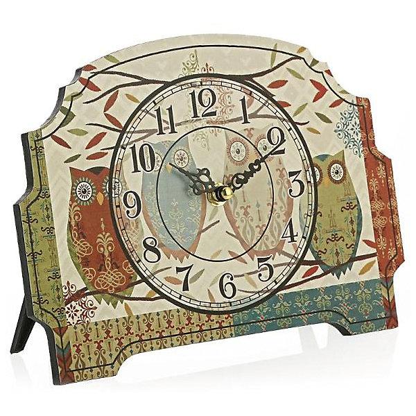 Часы настольные Четыре совушки, Magic HomeДетские предметы интерьера<br>Настольные часы с открытым циферблатом устанавливаются на плоской поверхности стола, полки или прикроватной тумбочки. Ход стрелок плавный, часы кварцевые, без боя, с циферблатом, часовой механизм находится на задней стенке часов. Корпус часов Magic Home – мдф-основа с рисунком «Четыре совушки». <br><br>Дополнительная информация:<br><br>Для работы часов требуется 1 батарейка типа АА (приобретается отдельно).<br><br>Размер: 18х24 см<br><br>Материал: МДФ - древесноволокнистая плита средней плотности, изготовленная из древесных опилок мелкой фракции.<br><br>Часы настольные Четыре совушки, Magic Home можно купить в нашем интернет-магазине.<br><br>Ширина мм: 270<br>Глубина мм: 190<br>Высота мм: 50<br>Вес г: 438<br>Возраст от месяцев: 216<br>Возраст до месяцев: 1200<br>Пол: Унисекс<br>Возраст: Детский<br>SKU: 5030487