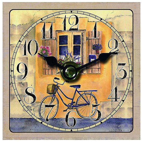 Часы настольные Велосипед, Magic HomeДетские предметы интерьера<br>Настольные часы с открытым циферблатом устанавливаются на плоской поверхности стола, полки или прикроватной тумбочки. Ход стрелок плавный, часы кварцевые, без боя, с циферблатом, часовой механизм находится на задней стенке часов. Корпус часов Magic Home – мдф-основа с рисунком «Велосипед». <br><br>Дополнительная информация:<br><br>Для работы часов требуется 1 батарейка типа АА (приобретается отдельно).<br><br>Размер: 10х10 см<br><br>Материал: МДФ - древесноволокнистая плита средней плотности, изготовленная из древесных опилок мелкой фракции.<br><br>Часы настольные Велосипед, Magic Home можно купить в нашем интернет-магазине.<br>Ширина мм: 210; Глубина мм: 150; Высота мм: 40; Вес г: 177; Возраст от месяцев: 216; Возраст до месяцев: 1200; Пол: Унисекс; Возраст: Детский; SKU: 5030489;