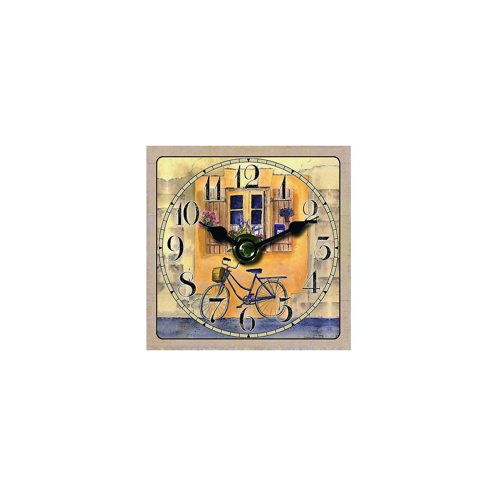 Часы настольные Велосипед, Magic HomeПредметы интерьера<br>Настольные часы с открытым циферблатом устанавливаются на плоской поверхности стола, полки или прикроватной тумбочки. Ход стрелок плавный, часы кварцевые, без боя, с циферблатом, часовой механизм находится на задней стенке часов. Корпус часов Magic Home – мдф-основа с рисунком «Велосипед». <br><br>Дополнительная информация:<br><br>Для работы часов требуется 1 батарейка типа АА (приобретается отдельно).<br><br>Размер: 10х10 см<br><br>Материал: МДФ - древесноволокнистая плита средней плотности, изготовленная из древесных опилок мелкой фракции.<br><br>Часы настольные Велосипед, Magic Home можно купить в нашем интернет-магазине.<br><br>Ширина мм: 210<br>Глубина мм: 150<br>Высота мм: 40<br>Вес г: 177<br>Возраст от месяцев: 216<br>Возраст до месяцев: 1200<br>Пол: Унисекс<br>Возраст: Детский<br>SKU: 5030489