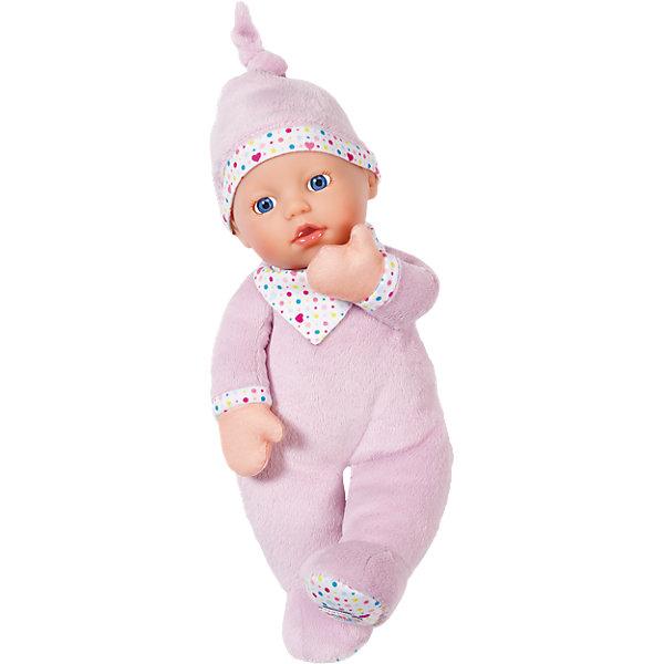 Кукла мягкая с твердой головой, 30 см, BABY bornБренды кукол<br>Кукла мягкая с твердой головой, 30 см, BABY born<br><br>Характеристики:<br><br>• В набор входит: кукла<br>• Состав: пластик, текстиль<br>• Высота куклы: 30 см.<br>• Размер упаковки: 31 * 16,5 * 20 см.<br>• Для детей в возрасте: от 0 лет<br>• Страна производитель: Китай<br><br>Серия «Первая Любовь» создана из безопасных для самых маленьких детей материалов, тело куклы мягкое, поэтому с ней так приятно обниматься и засыпать. Кукла с любопытством смотрит на мир своими голубыми глазками, её милый ротик приоткрыт от удивления. Кукла одета в мягчайший и очень приятный на ощупь комбинезончик пастельного цвета с красивой отделкой цветными сердечками и точками. Элементы одежды не снимаются, поэтому кроха не запутается и не поранится во время игры или сна.<br><br>Куклу мягкую с твердой головой, 30 см, BABY born можно купить в нашем интернет-магазине.<br><br>Ширина мм: 125<br>Глубина мм: 180<br>Высота мм: 250<br>Вес г: 350<br>Возраст от месяцев: 0<br>Возраст до месяцев: 24<br>Пол: Женский<br>Возраст: Детский<br>SKU: 5030817