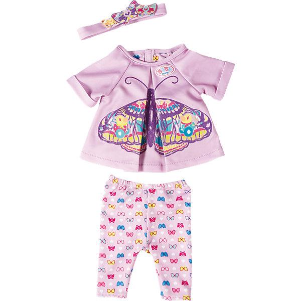 Удобная одежда для дома, BABY bornОдежда для кукол<br>Удобная одежда для дома, BABY born<br><br>Характеристики:<br><br>• В набор входит: кофточка, штанишки, повязка на голову<br>• Состав: текстиль<br>• Размер упаковки: 36 * 2 * 25 см.<br>• Для детей в возрасте: от 3 до 7 лет<br>• Страна производитель: Китай<br><br>Одежда выглядит как настоящая, кофточка застёгивается на липучку, а штанишки сделаны на резиночке и легко одеваются. Стиль комплекта отлично сочетается между собой, яркие штанишки с бабочками подходят к кофточке с большой бабочкой и нежной повязкой на голову. <br><br>Удобную одежду для дома, BABY born можно купить в нашем интернет-магазине.<br><br>Ширина мм: 356<br>Глубина мм: 266<br>Высота мм: 40<br>Вес г: 93<br>Возраст от месяцев: 36<br>Возраст до месяцев: 60<br>Пол: Женский<br>Возраст: Детский<br>SKU: 5030820