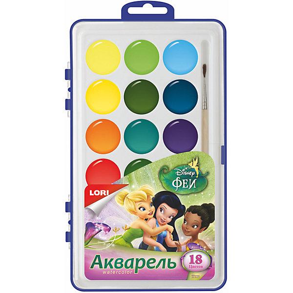 Акварель Disney Феи, 18 цветов, в пластикеРисование и лепка<br>акварельная краска, 18 цветов<br>Ширина мм: 18; Глубина мм: 122; Высота мм: 205; Вес г: 891; Возраст от месяцев: 36; Возраст до месяцев: 84; Пол: Унисекс; Возраст: Детский; SKU: 5032208;