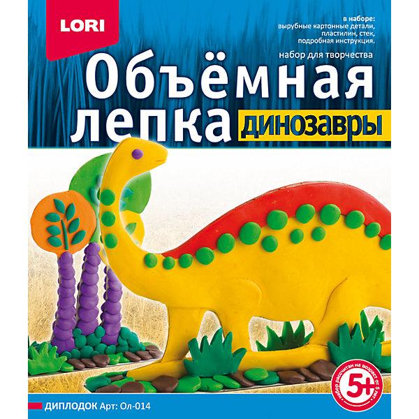 Лепка объемная, Динозавры ДиплодокНаборы для лепки<br>Вырубные картонные детали, пластилин, стек, подробная инструкция.<br><br>Ширина мм: 40<br>Глубина мм: 200<br>Высота мм: 230<br>Вес г: 824<br>Возраст от месяцев: 60<br>Возраст до месяцев: 108<br>Пол: Унисекс<br>Возраст: Детский<br>SKU: 5032262