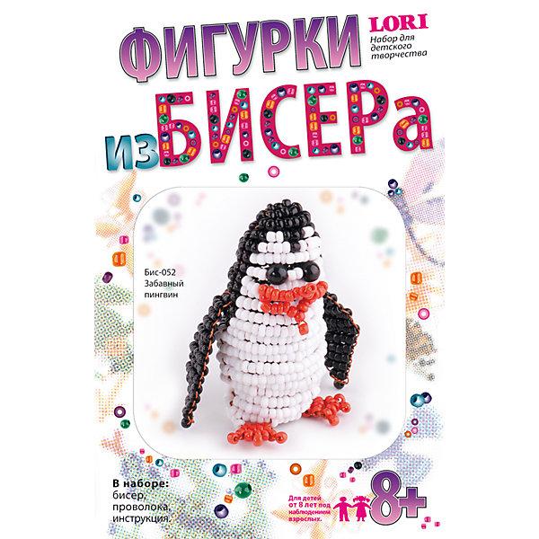 Фигурки из бисера Забавный пингвинШитьё<br>Фигурки из бисера Забавный пингвин, LORI (Лори)<br><br>Характеристики:<br><br>• блестящий пингвиненок из бисера своими руками<br>• развивает мелкую моторику и навыки моделирования<br>• в комплекте: бисер, проволока, инструкция<br>• вес: 85 грамм<br><br>Если ваш ребенок интересуется бисероплетением, то набор Забавный пингвин от Lori обязательно заинтересует его. В набор входит всё необходимое для создания фигурки: бисер, проволока и, конечно же, подробная инструкция. Готовую поделку можно использовать как брелок, подвеску или приятный подарок близкому человеку.<br><br>Фигурки из бисера Забавный пингвин, LORI (Лори) вы можете купить в нашем интернет-магазине.<br><br>Ширина мм: 25<br>Глубина мм: 107<br>Высота мм: 165<br>Вес г: 264<br>Возраст от месяцев: 96<br>Возраст до месяцев: 144<br>Пол: Женский<br>Возраст: Детский<br>SKU: 5032267