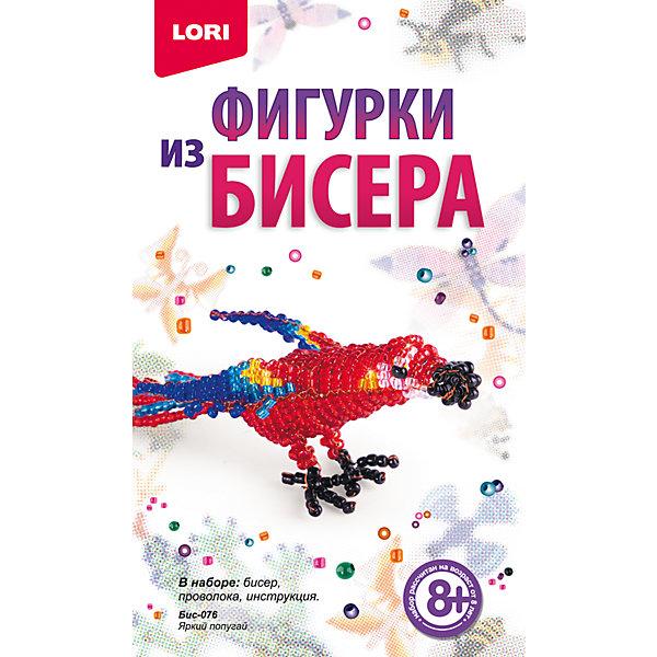 Фигурки из бисера Яркий попугайШитьё<br>Фигурки из бисера Яркий попугай, LORI (Лори)<br><br>Характеристики:<br><br>• блестящий попугайчик из бисера своими руками<br>• развивает мелкую моторику и навыки моделирования<br>• в комплекте: бисер, проволока, инструкция<br>• вес: 85 грамм<br>• размер упаковки: 2,5х10,5х16,5 см<br><br>Если ваш ребенок интересуется бисероплетением, то набор Яркий попугай от Lori обязательно заинтересует его. В набор входит всё необходимое для создания фигурки: бисер, проволока и, конечно же, подробная инструкция. Готовую поделку можно использовать как брелок, подвеску или приятный подарок близкому человеку.<br><br>Фигурки из бисера Яркий попугай, LORI (Лори) вы можете купить в нашем интернет-магазине.<br>Ширина мм: 25; Глубина мм: 110; Высота мм: 185; Вес г: 265; Возраст от месяцев: 96; Возраст до месяцев: 144; Пол: Женский; Возраст: Детский; SKU: 5032273;