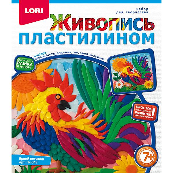 Живопись пластилином Яркий петушокНаборы для лепки<br>Живопись пластилином Яркий петушок, LORI (Лори)<br><br>Характеристики:<br><br>• яркие цвета<br>• рамка в комплекте<br>• размер упаковки: 20х23х4 см<br>• вес: 238 грамм<br>• в комплекте: картинка-основа, пластилин, стек, рамка, инструкция<br><br>Создать живописную объемную картинку очень просто, особенно если у вас есть набор от Lori, в котором вы найдете всё самое необходимое. Для создания поделки нужно нанести пластилин на белую картинку, используя лишь свою фантазию. Удобный стек поможет ребенку отделить необходимое количество пластилина. Такое творчество хорошо развивает мелкую моторику, художественный вкус и аккуратность. Яркий петушок станет прекрасным украшением детской комнаты!<br><br>Живопись пластилином Яркий петушок, LORI (Лори) вы можете купить в нашем интернет-магазине.<br><br>Ширина мм: 40<br>Глубина мм: 200<br>Высота мм: 230<br>Вес г: 9643<br>Возраст от месяцев: 48<br>Возраст до месяцев: 84<br>Пол: Унисекс<br>Возраст: Детский<br>SKU: 5032291