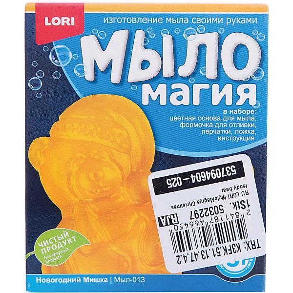 МылоМагия Новогодний мишкаНаборы для создания мыла<br>Основа для мыла емкость для растапливания, форма для заливки мыльного раствора, пищевой краситель, пипетка, перчатки, ложка инструкция<br><br>Ширина мм: 40<br>Глубина мм: 135<br>Высота мм: 113<br>Вес г: 700<br>Возраст от месяцев: 60<br>Возраст до месяцев: 84<br>Пол: Унисекс<br>Возраст: Детский<br>SKU: 5032297