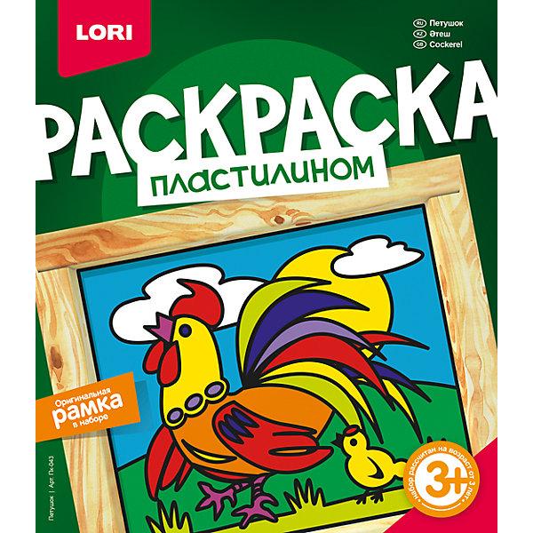 Раскраска пластилином ПетушокНаборы для лепки<br>Раскраска пластилином Петушок, LORI (Лори)<br><br>Характеристики:<br><br>• яркие цвета<br>• рамка в комплекте<br>• размер упаковки: 20х23х4 см<br>• вес: 242 грамма<br>• в комплекте: картинка-основа, пластилин, стек, рамка, инструкция<br><br>Создать живописную объемную картинку очень просто, особенно если у вас есть набор от Lori, в котором вы найдете всё самое необходимое. Для создания поделки нужно нанести пластилин на белую картинку, используя лишь свою фантазию. Удобный стек поможет ребенку отделить необходимое количество пластилина. Готовую работу можно поместить в самодельную рамку, входящую в комплект. Такое творчество хорошо развивает мелкую моторику, художественный вкус и аккуратность. Яркий петушок станет прекрасным украшением детской комнаты!<br><br>Раскраску пластилином Петушок, LORI (Лори) вы можете купить в нашем интернет-магазине.<br><br>Ширина мм: 40<br>Глубина мм: 200<br>Высота мм: 230<br>Вес г: 5546<br>Возраст от месяцев: 36<br>Возраст до месяцев: 84<br>Пол: Унисекс<br>Возраст: Детский<br>SKU: 5032312