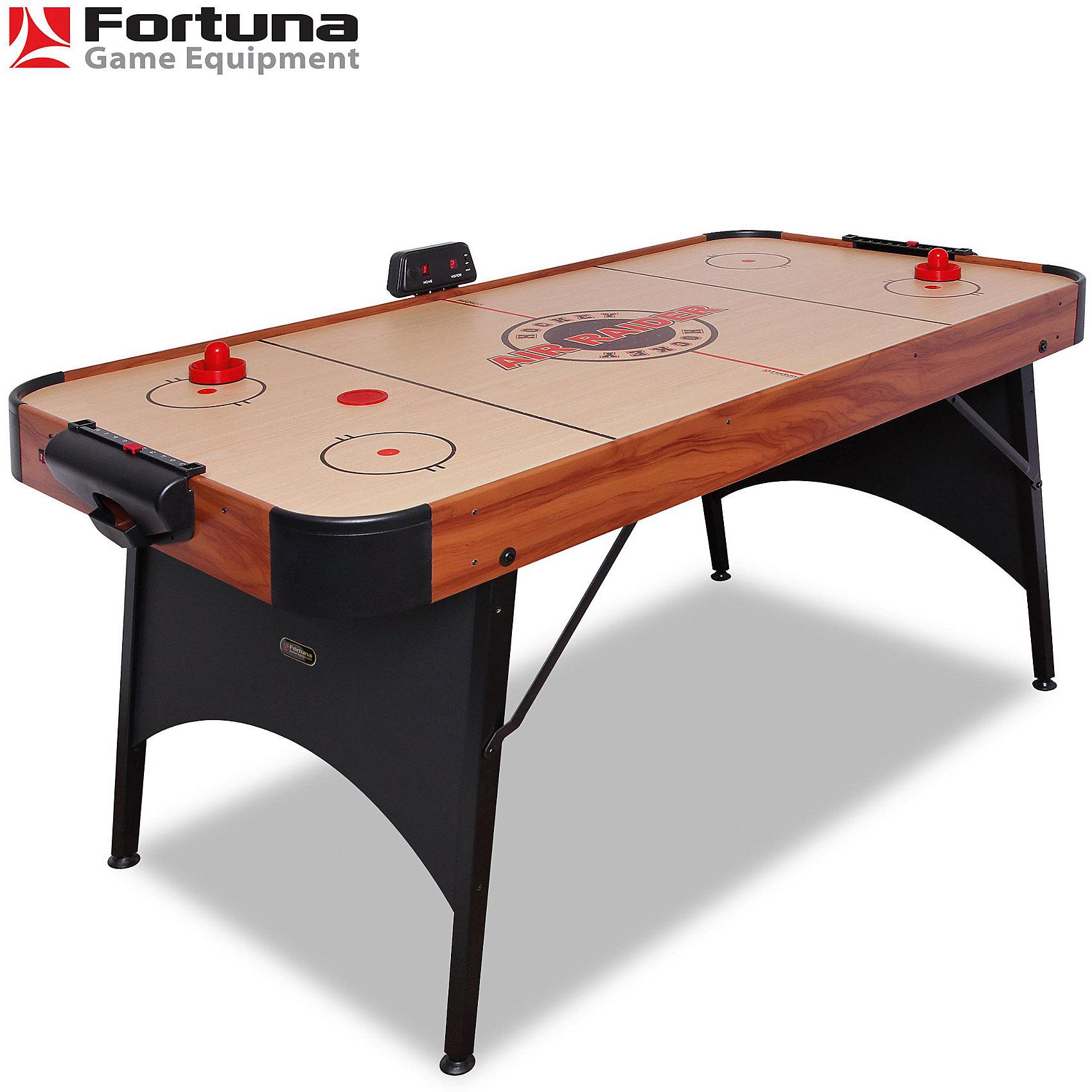 Аэрохоккей Air Raider HD-50, 153x77x80 см, FortunaНастольный аэрохоккей AIR RAIDER HD-50<br><br>Характеристики игрового набора Fortuna Game Equipment:<br><br>• габариты стола в собранном виде: 153х77х80 см;<br>• вес стола: 21,48 кг;<br>• размер игрового поля: 149х73 см;<br>• имеется компрессор;<br>• регулируется по высоте;<br>• имеется электронный счетчик очков;<br>• материал корпуса + опор, покрытие: МДФ, металл, ПВХ;<br>• электропитание: 220 В;<br>• размер упаковки: 159х83х15 см;<br>• вес упаковки: 26,87 кг;<br>• упаковка: мастер-коробка, коммерческая коробка, МДФ, пенопласт, полиэтилен.<br><br>Настольный аэрохоккей принесет удовольствие не только детям, но и их родителям. Имеется счетчик очков - игроки смогут отслеживать, кто лидирует в захватывающей схватке.<br><br>Комплектация игрового набора «Аэрохоккей»: <br><br>• 4 биты, диаметр 6,5 см;<br>• 4 шайбы, диаметр 5 см;<br>• 1 адаптер.<br><br>Аэрохоккей Air Raider HD-50, 153x77x80 см, Fortuna можно купить в нашем интернет-магазине.<br><br>Ширина мм: 1590<br>Глубина мм: 150<br>Высота мм: 830<br>Вес г: 26870<br>Возраст от месяцев: 36<br>Возраст до месяцев: 2147483647<br>Пол: Унисекс<br>Возраст: Детский<br>SKU: 5032452