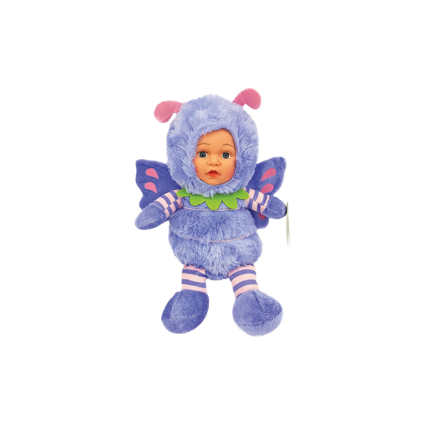 Игрушка Бабочка, Fluffy FamilyМягкие куклы<br>Игрушка «Бабочка» - милая вариация стандартной куклы – младенца. Малыш выполнен из пластика и тщательно прорисованным личиком. Одета кукла в костюм бабочки. Ткань приятна на ощупь и малышу понравится играть с куклой. Игрушка подходит для одиночной игры малыша и для игр в компании. Не содержит мелких деталей. Кукла из коллекционной серии. Соберите весь набор! Материалы, использованные при изготовлении товара, абсолютно безопасны и отвечают всем международным требованиям по качеству.<br><br>Дополнительные характеристики:<br><br>материал: ПВХ, искусственный мех, пластик;<br>габариты: 27 х 9 х 36 см;<br>наполнитель: полиэтиленовые гранулы.<br><br>Игрушку Бабочка от компании Fluffy Family можно приобрести в нашем магазине.<br><br>Ширина мм: 570<br>Глубина мм: 580<br>Высота мм: 450<br>Вес г: 159<br>Возраст от месяцев: 36<br>Возраст до месяцев: 96<br>Пол: Унисекс<br>Возраст: Детский<br>SKU: 5032459