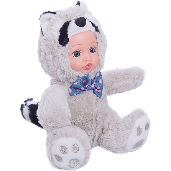 Игрушка Крошка енот, Fluffy FamilyКуклы<br>Такая игрушка - милая вариация стандартной куклы–младенца. Малыш выполнен из пластика и тщательно прорисованным личиком. Одета кукла в костюм енота. Ткань приятна на ощупь и малышу понравится играть с куклой. Игрушка подходит для одиночной игры малыша и для игр в компании. Не содержит мелких деталей. Кукла из коллекционной серии. Соберите весь набор! Материалы, использованные при изготовлении товара, абсолютно безопасны и отвечают всем международным требованиям по качеству.<br><br>Дополнительные характеристики:<br><br>материал: ПВХ, искусственный мех, пластик;<br>габариты: 20 X 9 X 30 см;<br>наполнитель: полиэтиленовые гранулы.<br><br>Игрушку Крошка енот от компании Fluffy Family можно приобрести в нашем магазине.<br>Ширина мм: 570; Глубина мм: 580; Высота мм: 450; Вес г: 130; Возраст от месяцев: 36; Возраст до месяцев: 96; Пол: Унисекс; Возраст: Детский; SKU: 5032461;