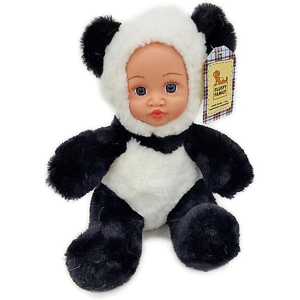 Игрушка Крошка панда, Fluffy FamilyКуклы<br>Такая игрушка - милая вариация стандартной куклы–младенца. Малыш выполнен из пластика и тщательно прорисованным личиком. Одета кукла в костюм совенка. Ткань приятна на ощупь и малышу понравится играть с куклой. Игрушка подходит для одиночной игры малыша и для игр в компании. Не содержит мелких деталей. Кукла из коллекционной серии. Соберите весь набор! Материалы, использованные при изготовлении товара, абсолютно безопасны и отвечают всем международным требованиям по качеству.<br><br>Дополнительные характеристики:<br><br>материал: ПВХ, искусственный мех, пластик;<br>габариты: 20 X 9 X 30 см;<br>наполнитель: полиэтиленовые гранулы.<br><br>Игрушку Крошка панда от компании Fluffy Family можно приобрести в нашем магазине.<br>Ширина мм: 570; Глубина мм: 580; Высота мм: 450; Вес г: 130; Возраст от месяцев: 36; Возраст до месяцев: 96; Пол: Унисекс; Возраст: Детский; SKU: 5032463;