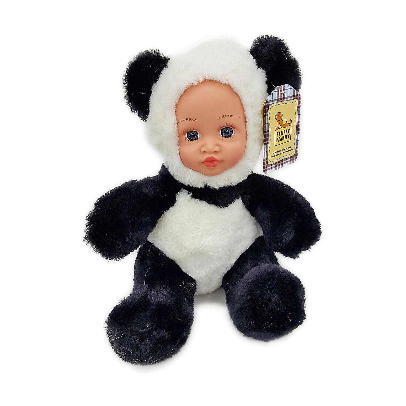 Игрушка Крошка панда, Fluffy FamilyТакая игрушка - милая вариация стандартной куклы–младенца. Малыш выполнен из пластика и тщательно прорисованным личиком. Одета кукла в костюм совенка. Ткань приятна на ощупь и малышу понравится играть с куклой. Игрушка подходит для одиночной игры малыша и для игр в компании. Не содержит мелких деталей. Кукла из коллекционной серии. Соберите весь набор! Материалы, использованные при изготовлении товара, абсолютно безопасны и отвечают всем международным требованиям по качеству.<br><br>Дополнительные характеристики:<br><br>материал: ПВХ, искусственный мех, пластик;<br>габариты: 20 X 9 X 30 см;<br>наполнитель: полиэтиленовые гранулы.<br><br>Игрушку Крошка панда от компании Fluffy Family можно приобрести в нашем магазине.<br><br>Ширина мм: 570<br>Глубина мм: 580<br>Высота мм: 450<br>Вес г: 130<br>Возраст от месяцев: 36<br>Возраст до месяцев: 96<br>Пол: Унисекс<br>Возраст: Детский<br>SKU: 5032463