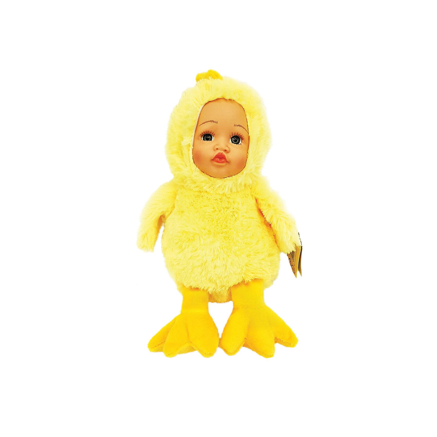 Игрушка Мой цыпленок, Fluffy FamilyМягкие куклы<br>Такая игрушка - милая вариация стандартной куклы–младенца. Малыш выполнен из пластика и тщательно прорисованным личиком. Одета кукла в костюм совенка. Ткань приятна на ощупь и малышу понравится играть с куклой. Игрушка подходит для одиночной игры малыша и для игр в компании. Не содержит мелких деталей. Кукла из коллекционной серии. Соберите весь набор! Материалы, использованные при изготовлении товара, абсолютно безопасны и отвечают всем международным требованиям по качеству.<br><br>Дополнительные характеристики:<br><br>материал: ПВХ, искусственный мех, пластик;<br>габариты: 20 X 9 X 30 см;<br>наполнитель: полиэтиленовые гранулы.<br><br>Игрушку Мой цыпленок от компании Fluffy Family можно приобрести в нашем магазине.<br><br>Ширина мм: 570<br>Глубина мм: 580<br>Высота мм: 450<br>Вес г: 115<br>Возраст от месяцев: 36<br>Возраст до месяцев: 96<br>Пол: Унисекс<br>Возраст: Детский<br>SKU: 5032469