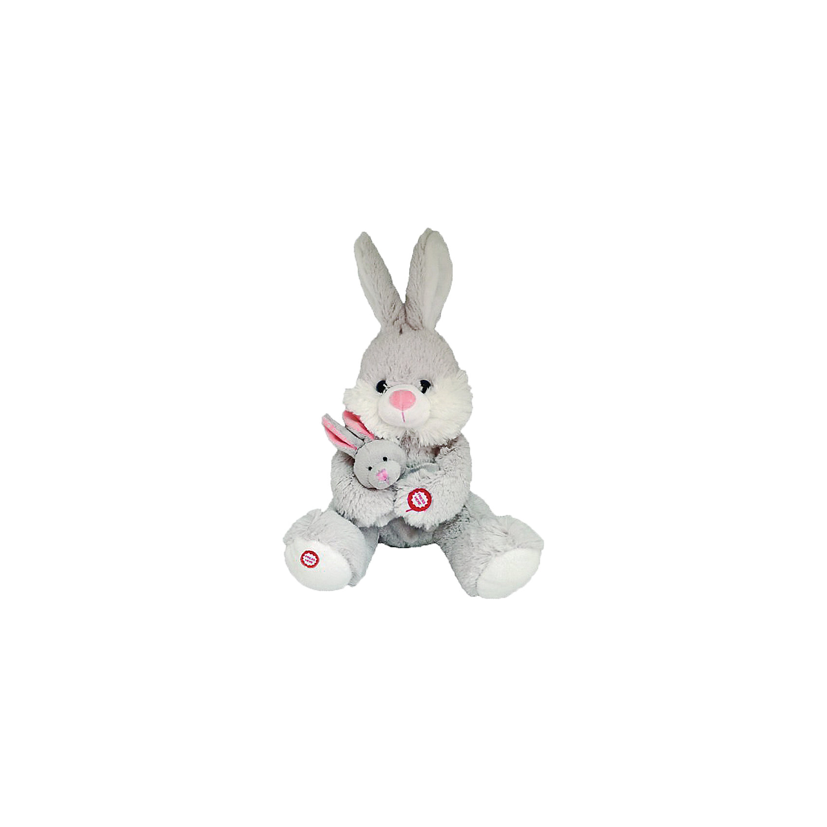 Fluffy Family Интерактивная игрушка Мама и малыш Зайка, Fluffy Family интерактивная игрушка fluffy family бобер повторяшка от 3 лет 681012 коричневый