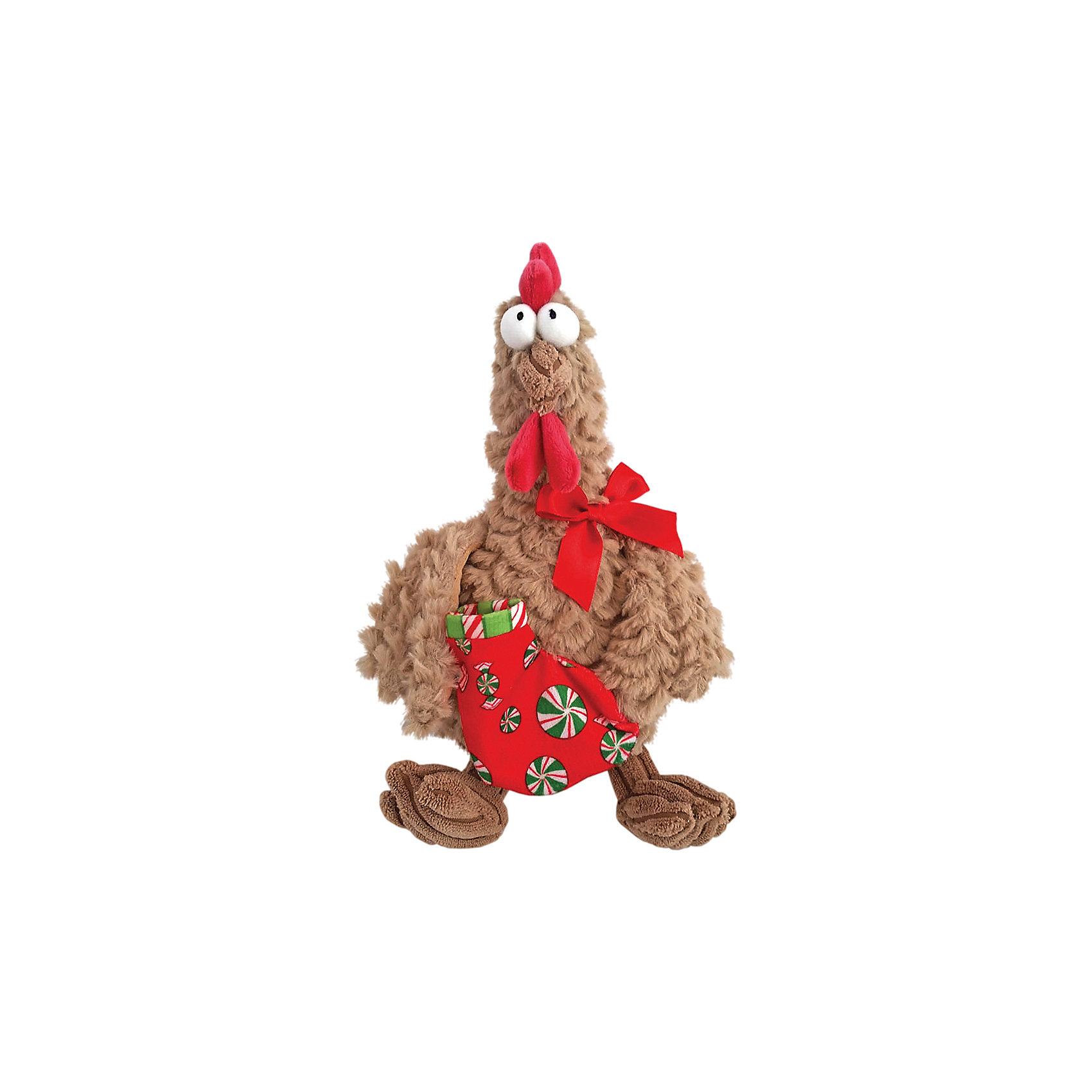 Петух новогодний, бежевый, 22 см, Fluffy Family