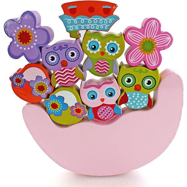 Игра-баланс Совята, MapachaДеревянные игрушки<br>Игры для развития – незаменимый помощник для всех мам. Улучшить координацию малыша и развить мелкую моторику способствует новая игрушка «совята», которая понравится даже самым капризным малышам. Основа игрушки – неустойчивая платформа. На нее нужно установить как можно больше игрушек, входящих в комплект, чтобы платформа сохранила баланс и не упала. Цель – установить все 9 игрушек. Материалы, использованные при изготовлении товара, абсолютно безопасны и отвечают всем международным требованиям по качеству.<br><br>Дополнительные характеристики:<br><br>материал: натуральное дерево;<br>цвет: разноцветный;<br>габариты: 21 х 19 см;<br>количество: 9 фигурок.<br><br>Игру-баланс Совята от компании Mapacha можно приобрести в нашем магазине.<br><br>Ширина мм: 430<br>Глубина мм: 485<br>Высота мм: 275<br>Вес г: 700<br>Возраст от месяцев: 12<br>Возраст до месяцев: 36<br>Пол: Унисекс<br>Возраст: Детский<br>SKU: 5032493