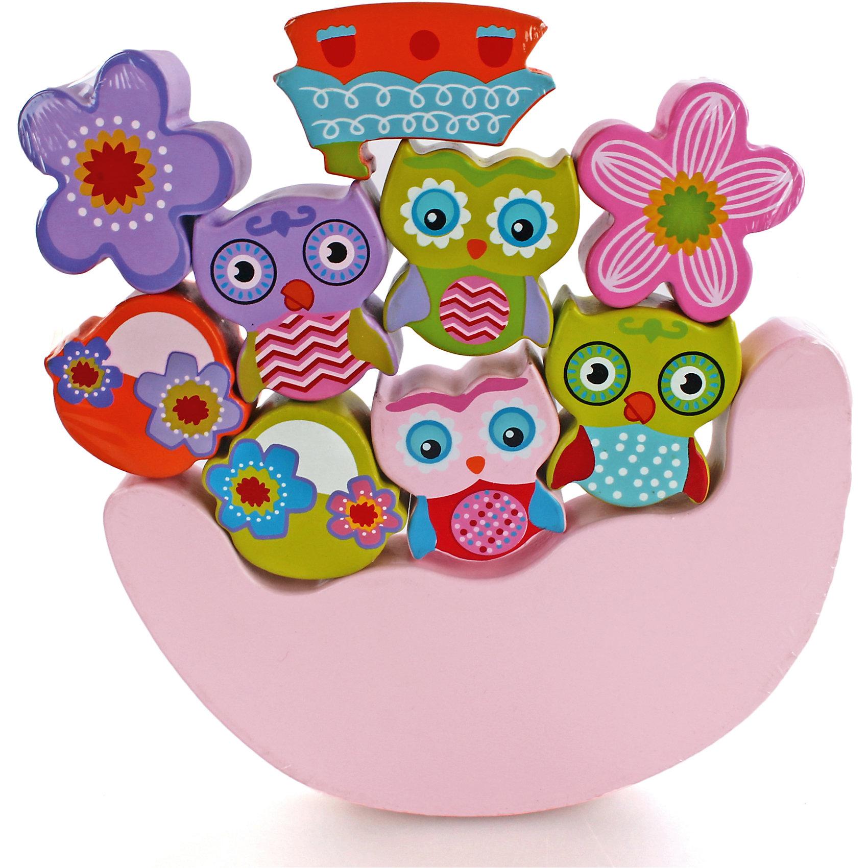 Игра-баланс Совята, MapachaРазвивающие игры<br>Игры для развития – незаменимый помощник для всех мам. Улучшить координацию малыша и развить мелкую моторику способствует новая игрушка «совята», которая понравится даже самым капризным малышам. Основа игрушки – неустойчивая платформа. На нее нужно установить как можно больше игрушек, входящих в комплект, чтобы платформа сохранила баланс и не упала. Цель – установить все 9 игрушек. Материалы, использованные при изготовлении товара, абсолютно безопасны и отвечают всем международным требованиям по качеству.<br><br>Дополнительные характеристики:<br><br>материал: натуральное дерево;<br>цвет: разноцветный;<br>габариты: 21 х 19 см;<br>количество: 9 фигурок.<br><br>Игру-баланс Совята от компании Mapacha можно приобрести в нашем магазине.<br><br>Ширина мм: 430<br>Глубина мм: 485<br>Высота мм: 275<br>Вес г: 700<br>Возраст от месяцев: 12<br>Возраст до месяцев: 36<br>Пол: Унисекс<br>Возраст: Детский<br>SKU: 5032493
