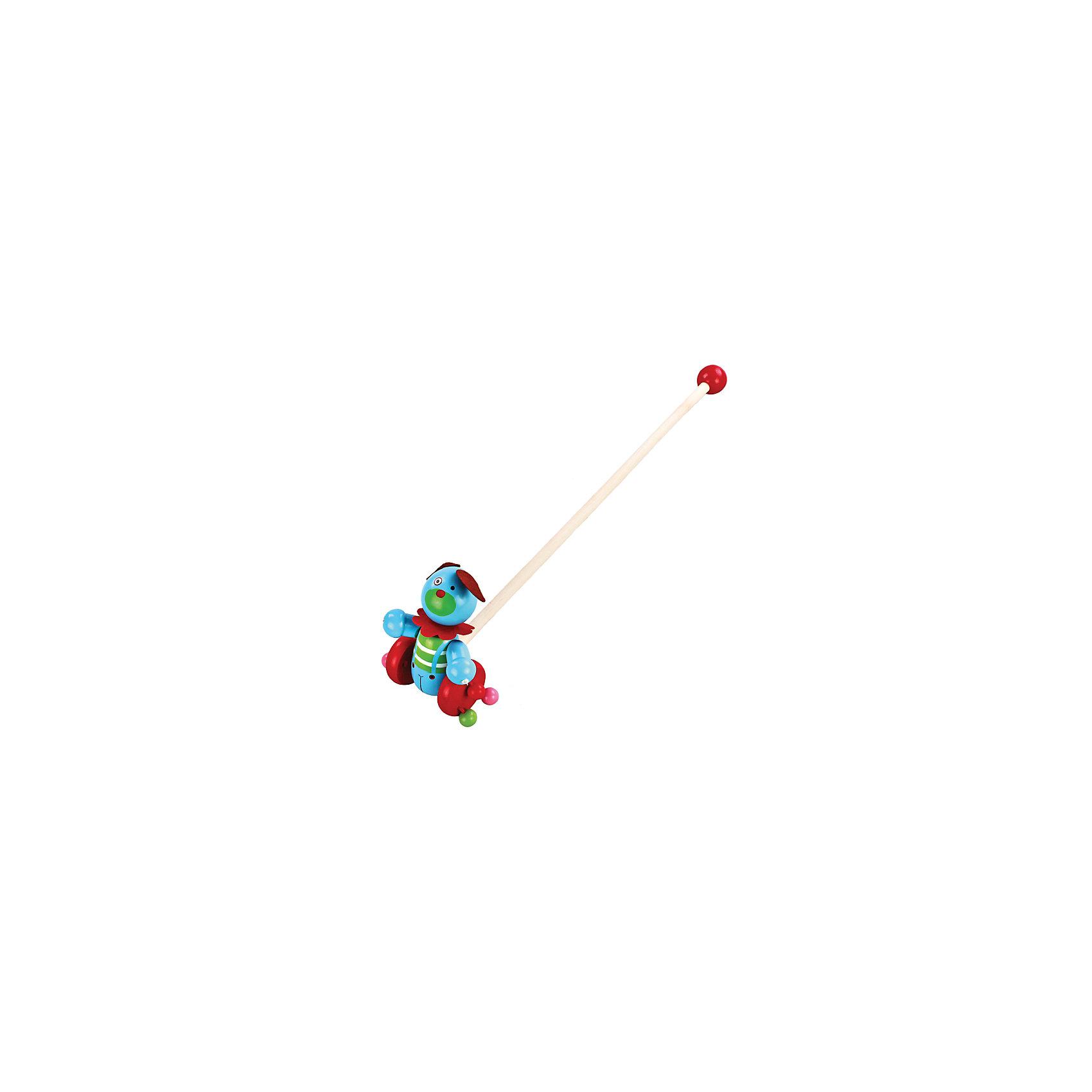 Каталка Веселый щенок, MapachaИгрушки-каталки<br>Каталки – интересные игрушки, которые любят все малыши. Данная модель выполнена из пластика, представлена в виде щенка. Внизу у игрушки есть колесики, которые легко передвигаются по любым поверхностям. Каталка – игрушка на длинной ручке. Малыш держит игрушку за ручку и катит впереди или позади себя. Благодаря колесикам ребенок не устает носить с собой каталку. Яркие цвета, стильный дизайн – достоинства новой модели. Материалы, использованные при изготовлении товара, абсолютно безопасны и отвечают всем международным требованиям по качеству.<br><br>Дополнительные характеристики:<br><br>материал: пластик, ПВХ;<br>цвет: разноцветный;<br>габариты: 36 X 18 X 23 см.<br><br>Каталку Веселый щенок от компании Mapacha можно приобрести в нашем магазине.<br><br>Ширина мм: 515<br>Глубина мм: 350<br>Высота мм: 260<br>Вес г: 271<br>Возраст от месяцев: 12<br>Возраст до месяцев: 36<br>Пол: Унисекс<br>Возраст: Детский<br>SKU: 5032494