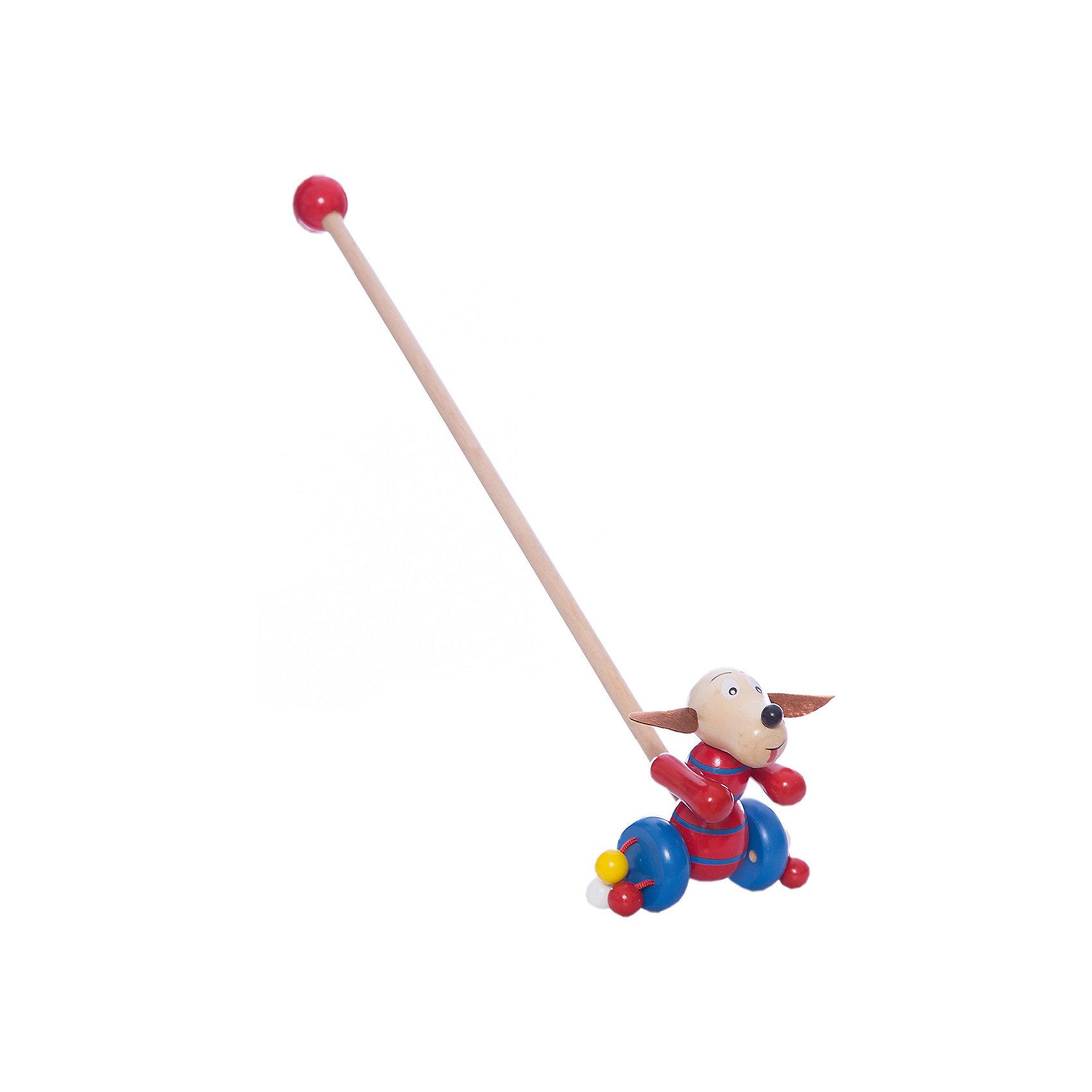 Каталка Собачка, MapachaИгрушки-каталки<br>Каталки – интересные игрушки, которые любят все малыши. Данная модель выполнена из пластика, представлена в виде собачки. Внизу у игрушки есть колесики, которые легко передвигаются по любым поверхностям. Каталка – игрушка на длинной ручке. Малыш держит игрушку за ручку и катит впереди или позади себя. Благодаря колесикам ребенок не устает носить с собой каталку. Яркие цвета, стильный дизайн – достоинства новой модели. Материалы, использованные при изготовлении товара, абсолютно безопасны и отвечают всем международным требованиям по качеству.<br><br>Дополнительные характеристики:<br><br>материал: пластик, ПВХ;<br>цвет: разноцветный;<br>габариты: 36 X 18 X 23 см.<br><br>Каталку Собачка от компании Mapacha можно приобрести в нашем магазине.<br><br>Ширина мм: 510<br>Глубина мм: 450<br>Высота мм: 320<br>Вес г: 125<br>Возраст от месяцев: 12<br>Возраст до месяцев: 36<br>Пол: Унисекс<br>Возраст: Детский<br>SKU: 5032496