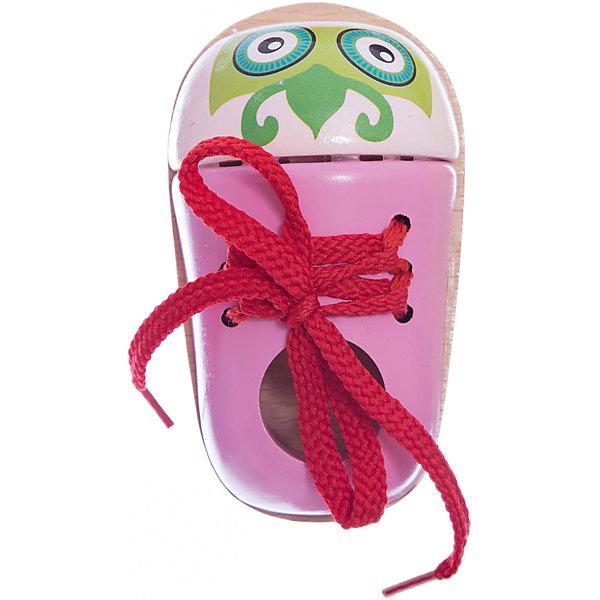 Шнуровка Ботиночек Совушка, MapachaШнуровки<br>Шнуровки – вид развивающих игрушек, которые обучают ребенка практическим навыкам. Шнуровка научит обращаться со шнурками, завязывать узелки и бантики. Красивый дизайн игрушки, интересный рисунок, экологический материал, яркие цвета и стильный дизайн сделают модель любимой вещицей у малыша. Игрушка тренирует мелкую моторику, аккуратность, а так же тренирует логику и воображение. Материалы, использованные при изготовлении товара, абсолютно безопасны и отвечают всем международным требованиям по качеству.<br><br>Дополнительные характеристики:<br><br>материал: натуральное дерево, текстиль;<br>цвет: разноцветный;<br>габариты: 10 X 4 X 19 см.<br><br>Шнуровку Ботиночек Совушка от компании Mapacha можно приобрести в нашем магазине.<br>Ширина мм: 430; Глубина мм: 430; Высота мм: 245; Вес г: 109; Возраст от месяцев: 36; Возраст до месяцев: 84; Пол: Унисекс; Возраст: Детский; SKU: 5032501;