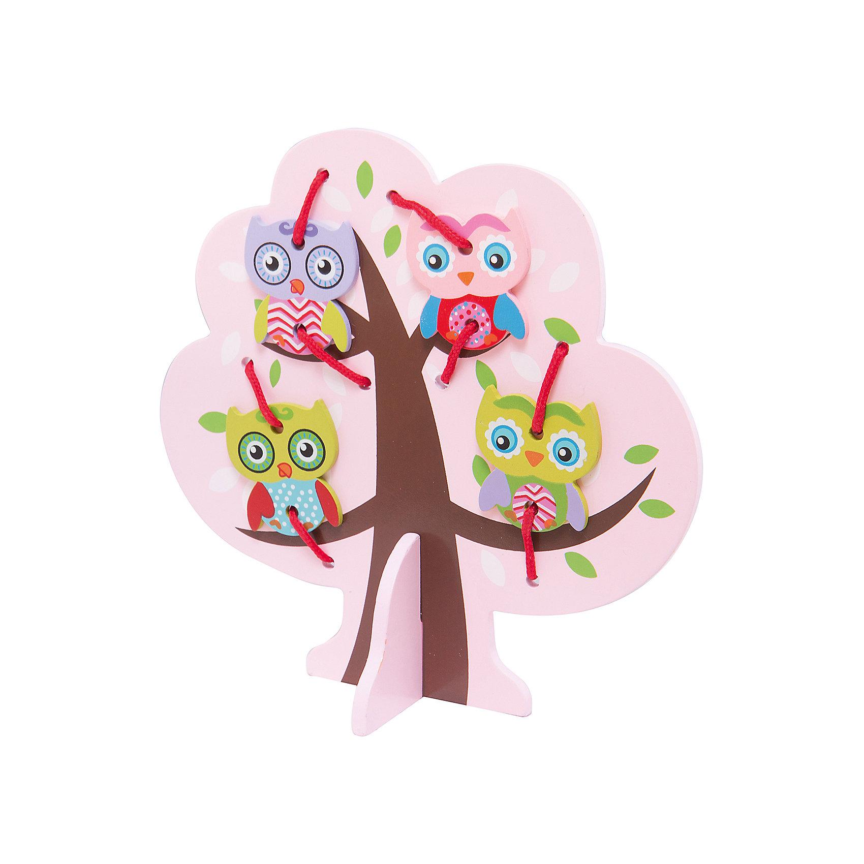 Шнуровка Дерево с совятами, MapachaШнуровки – вид развивающих игрушек, которые обучают ребенка практическим навыкам. Шнуровка научит обращаться со шнурками, завязывать узелки и бантики. Красивый дизайн игрушки, интересный рисунок, экологический материал, яркие цвета и стильный дизайн сделают модель любимой вещицей у малыша. Игрушка тренирует мелкую моторику, аккуратность, а так же тренирует логику и воображение. Материалы, использованные при изготовлении товара, абсолютно безопасны и отвечают всем международным требованиям по качеству.<br><br>Дополнительные характеристики:<br><br>материал: натуральное дерево, текстиль;<br>цвет: разноцветный;<br>габариты: 20 X 1 X 25 см.<br><br>Шнуровку  Дерево с совятами от компании Mapacha можно приобрести в нашем магазине.<br><br>Ширина мм: 400<br>Глубина мм: 405<br>Высота мм: 220<br>Вес г: 148<br>Возраст от месяцев: 36<br>Возраст до месяцев: 84<br>Пол: Унисекс<br>Возраст: Детский<br>SKU: 5032502