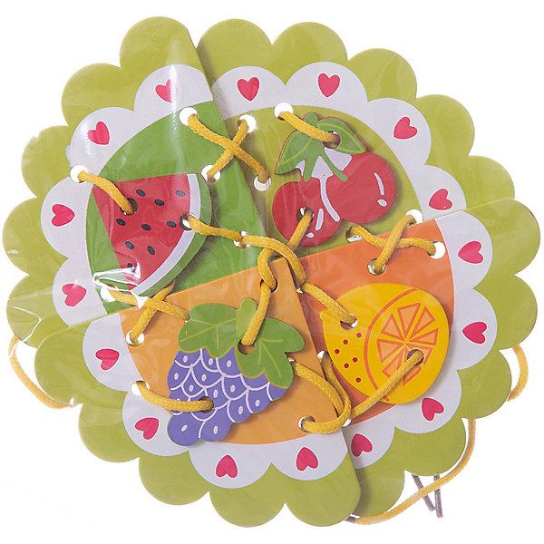 Шнуровка Фрукты, MapachaШнуровки<br>Шнуровки – вид развивающих игрушек, которые обучают ребенка практическим навыкам. Шнуровка научит обращаться со шнурками, завязывать узелки и бантики. Красивый дизайн игрушки, интересный рисунок, экологический материал, яркие цвета и стильный дизайн сделают модель любимой вещицей у малыша. Игрушка тренирует мелкую моторику, аккуратность, а так же тренирует логику и воображение. Материалы, использованные при изготовлении товара, абсолютно безопасны и отвечают всем международным требованиям по качеству.<br><br>Дополнительные характеристики:<br><br>материал: натуральное дерево, текстиль;<br>цвет: разноцветный;<br>габариты: 18 X 1 X 23 см.<br><br>Шнуровку Фрукты от компании Mapacha можно приобрести в нашем магазине.<br><br>Ширина мм: 420<br>Глубина мм: 410<br>Высота мм: 360<br>Вес г: 94<br>Возраст от месяцев: 36<br>Возраст до месяцев: 84<br>Пол: Унисекс<br>Возраст: Детский<br>SKU: 5032506