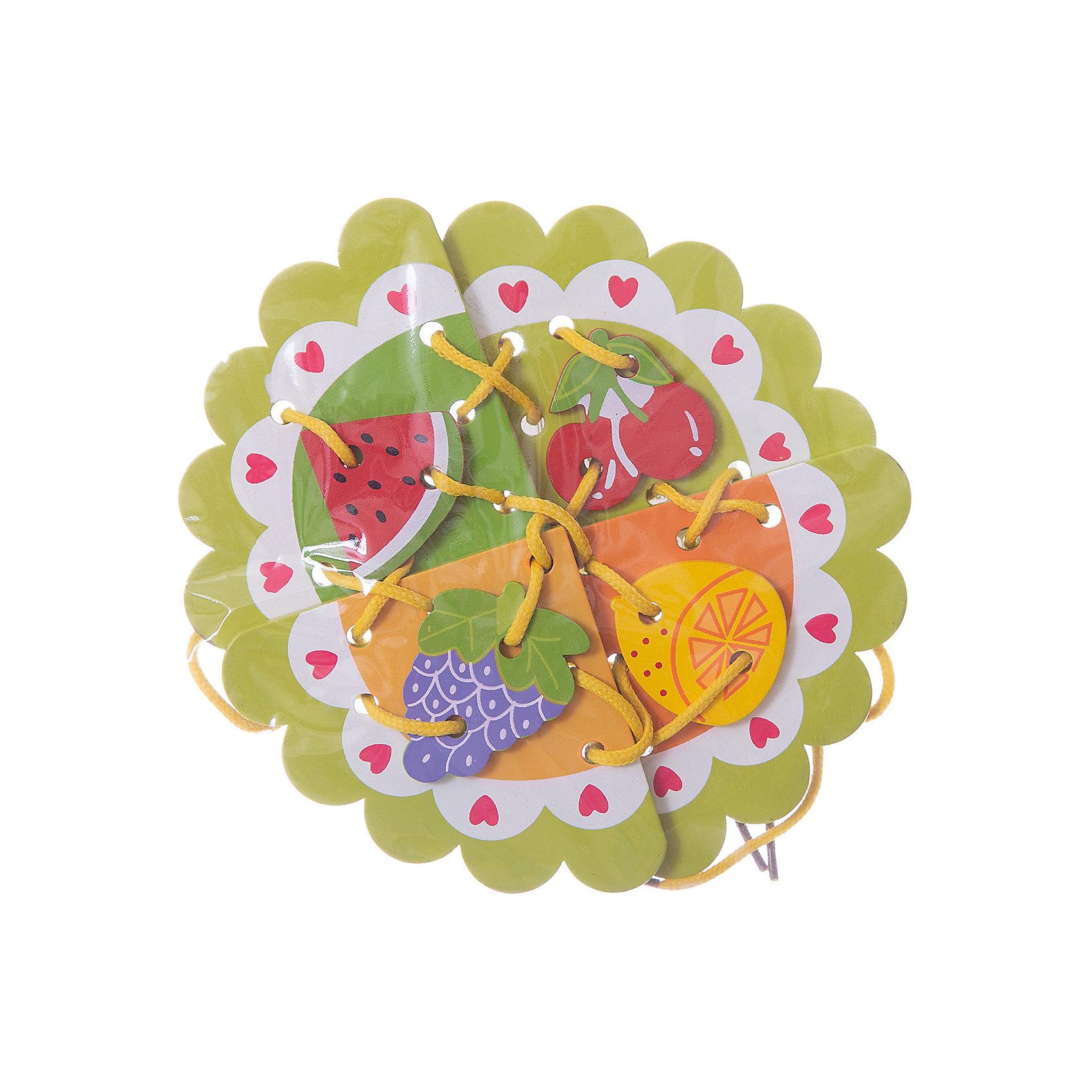 Шнуровка Фрукты, MapachaШнуровки – вид развивающих игрушек, которые обучают ребенка практическим навыкам. Шнуровка научит обращаться со шнурками, завязывать узелки и бантики. Красивый дизайн игрушки, интересный рисунок, экологический материал, яркие цвета и стильный дизайн сделают модель любимой вещицей у малыша. Игрушка тренирует мелкую моторику, аккуратность, а так же тренирует логику и воображение. Материалы, использованные при изготовлении товара, абсолютно безопасны и отвечают всем международным требованиям по качеству.<br><br>Дополнительные характеристики:<br><br>материал: натуральное дерево, текстиль;<br>цвет: разноцветный;<br>габариты: 18 X 1 X 23 см.<br><br>Шнуровку Фрукты от компании Mapacha можно приобрести в нашем магазине.<br><br>Ширина мм: 420<br>Глубина мм: 410<br>Высота мм: 360<br>Вес г: 94<br>Возраст от месяцев: 36<br>Возраст до месяцев: 84<br>Пол: Унисекс<br>Возраст: Детский<br>SKU: 5032506
