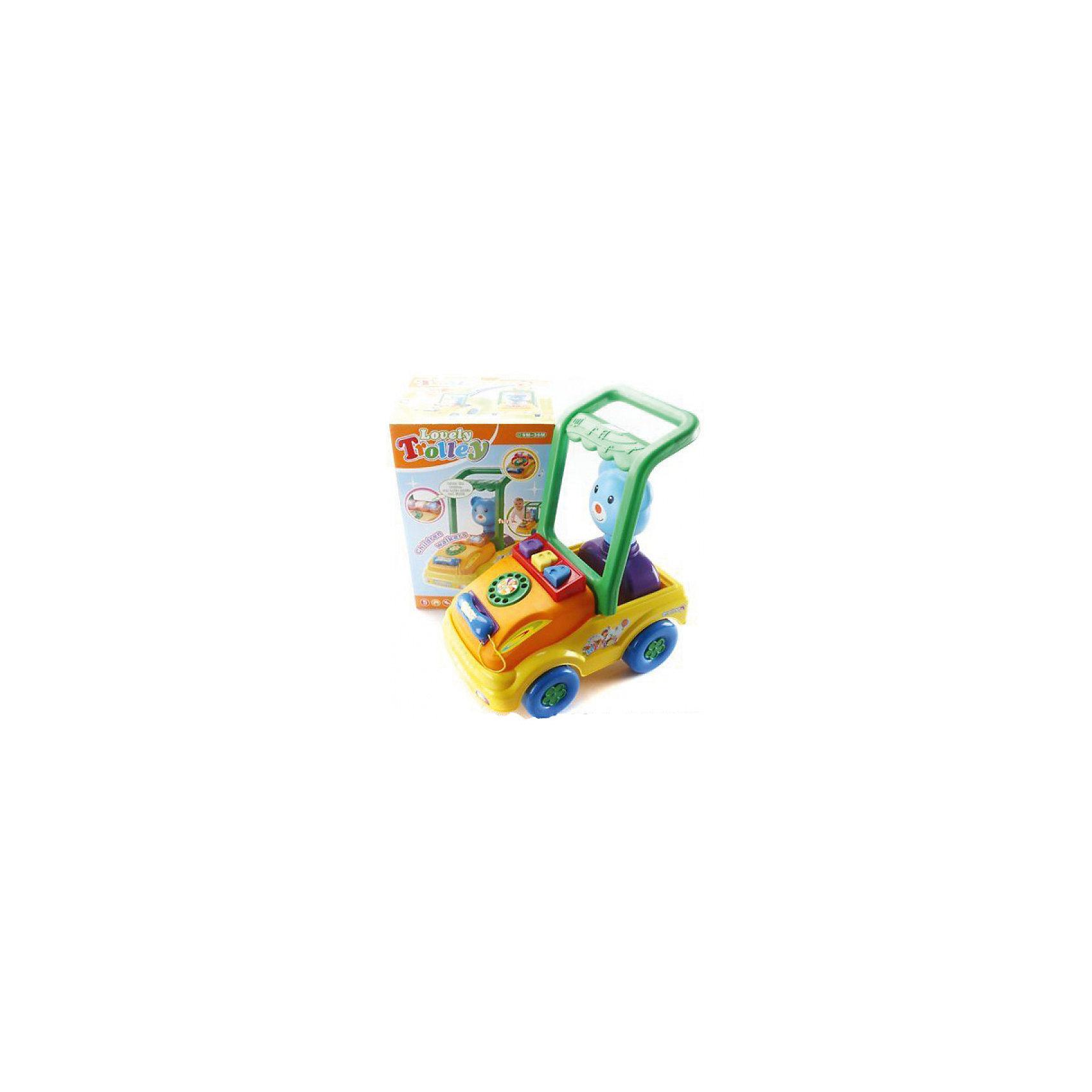 Игровой центр-каталка, со светом и звуком, Shantou GepaiКаталки – интересные игрушки, которые любят все малыши. Данная модель выполнена из пластика, представлена в виде машинки с мишкой - водителем. Внизу у игрушки есть колесики, которые легко передвигаются по любым поверхностям. Каталка – игрушка на длинной ручке. Малыш держит игрушку за ручку и катит впереди или позади себя. Благодаря колесикам ребенок не устает носить с собой каталку. Яркие цвета, стильный дизайн – достоинства новой модели. Материалы, использованные при изготовлении товара, абсолютно безопасны и отвечают всем международным требованиям по качеству.<br><br>Дополнительные характеристики:<br><br>материал: пластик, ПВХ;<br>цвет: разноцветный;<br>габариты: 27 X 25 X 40 см.<br><br>Игровой центр-каталку, со светом и звуком от компании Shantou Gepai можно приобрести в нашем магазине.<br><br>Ширина мм: 270<br>Глубина мм: 400<br>Высота мм: 250<br>Вес г: 1790<br>Возраст от месяцев: 12<br>Возраст до месяцев: 48<br>Пол: Унисекс<br>Возраст: Детский<br>SKU: 5032519