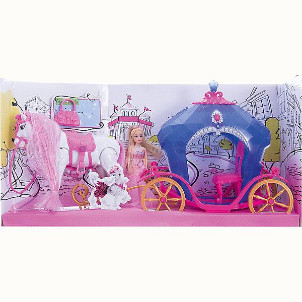 Карета с куклой и лошадью, со светом и звуком, Shantou GepaiТранспорт и коляски для кукол<br>Игрушки с каждым годом становятся все интереснее и интереснее, так как новые технологии уверенно пробираются в детские комнаты. Световые игрушки привлекают внимание малышей с первой игры. Звуковые эффекты сделают игру веселой и необычной. Интерактивная игрушка окажется прекрасным подарком для всех детей. Яркие цвета, приятные мелодии и комфортный на ощупь материал сделают модель любимой игрушкой. Материалы, использованные при изготовлении товара, абсолютно безопасны и отвечают всем международным требованиям по качеству.<br><br>Дополнительные характеристики:<br><br>материал: пластик, ПВХ;<br>габариты: 49 X 12 X 25 см.<br><br>Карету с куклой и лошадью, со светом и звуком от компании Shantou Gepai можно приобрести в нашем магазине.<br>Ширина мм: 490; Глубина мм: 250; Высота мм: 120; Вес г: 890; Возраст от месяцев: 36; Возраст до месяцев: 96; Пол: Женский; Возраст: Детский; SKU: 5032520;